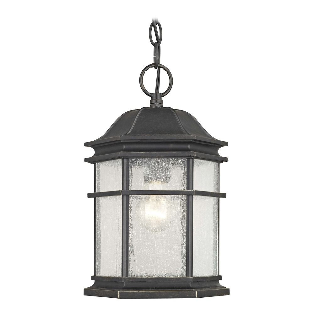 Barlow Bronze Outdoor Hanging Light With Outdoor Rated Hanging Lights (#1 of 15)