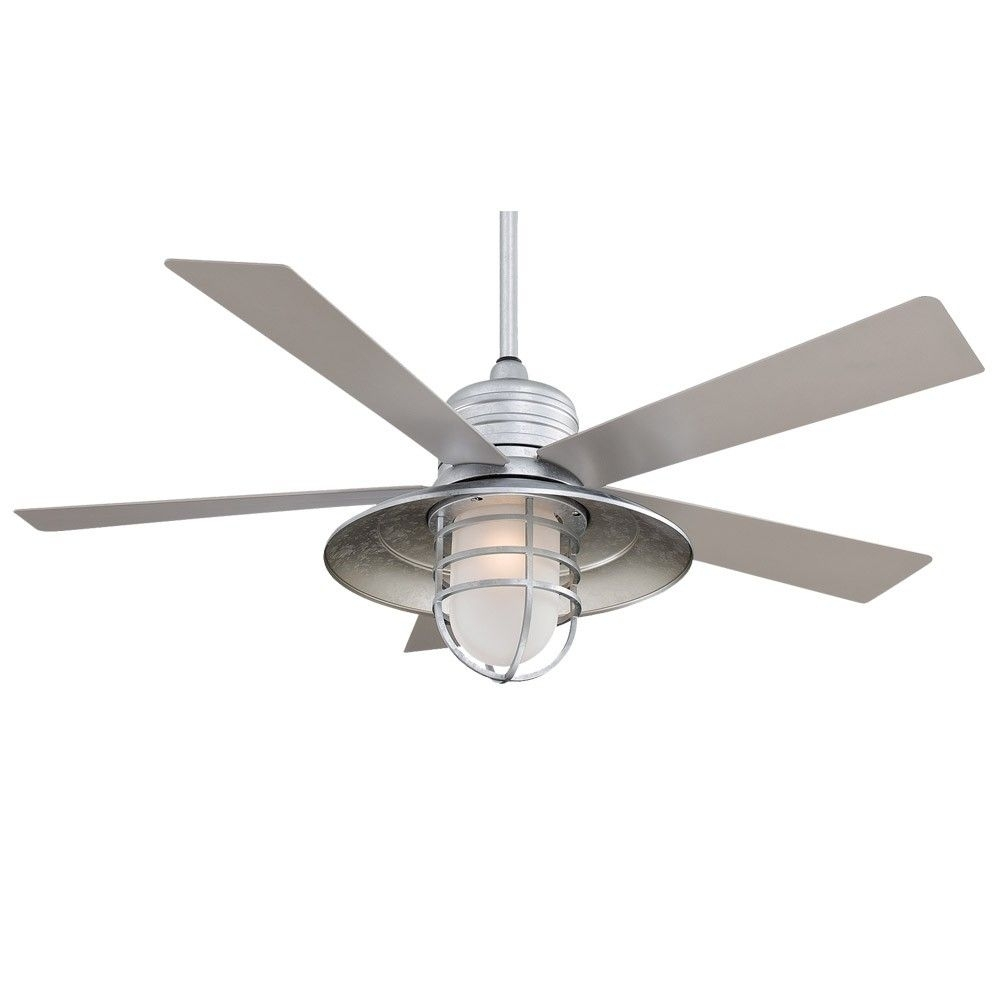 Beach Style Ceiling Fans With Light | Http://ladysro Throughout Outdoor Ceiling Fans With Wet Rated Lights (#1 of 15)