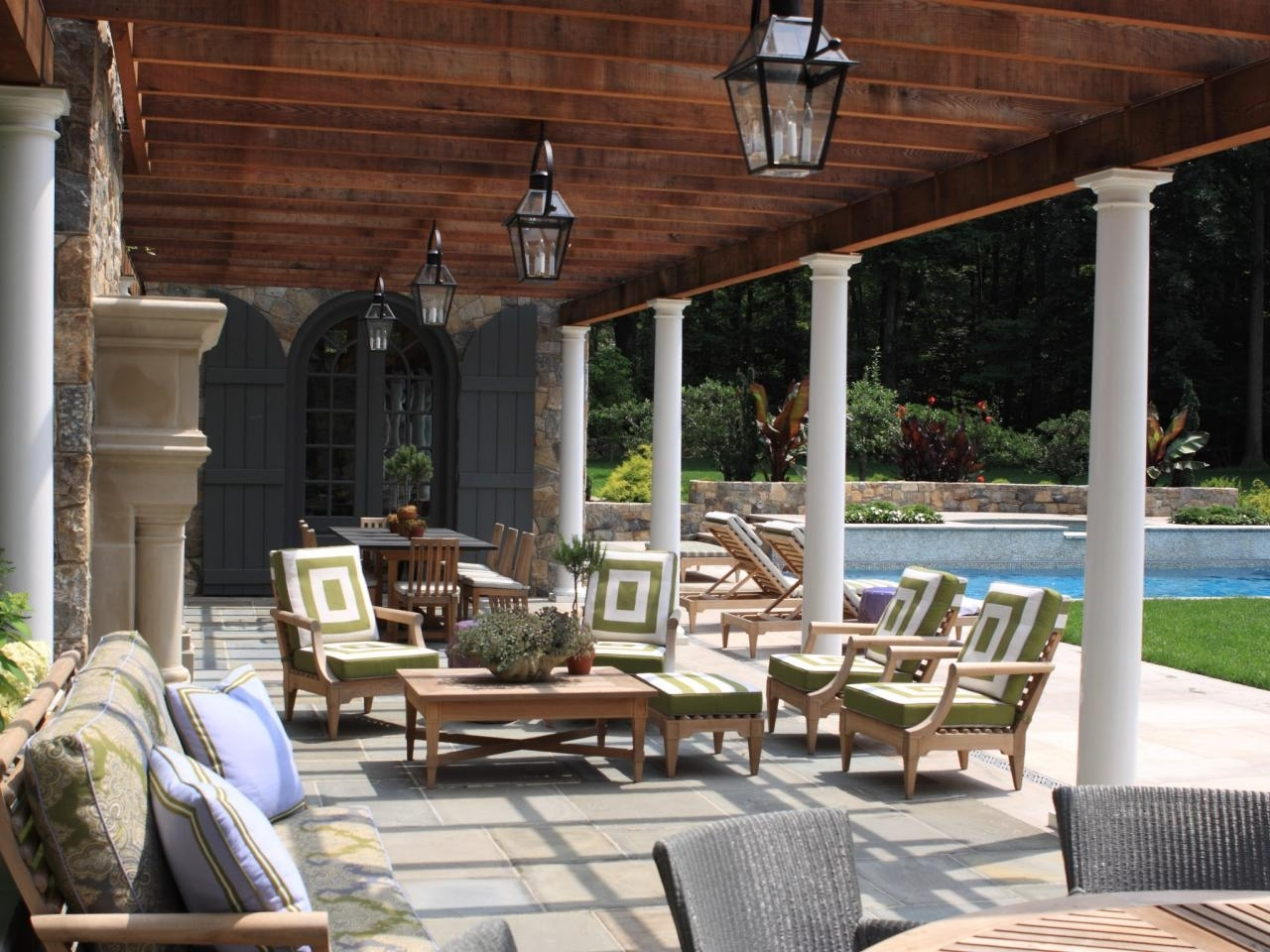 Beautiful Backyard Landscaping And Pool | Janice Parker | Hgtv Pertaining To Outdoor Hanging Pool Lights (#2 of 15)