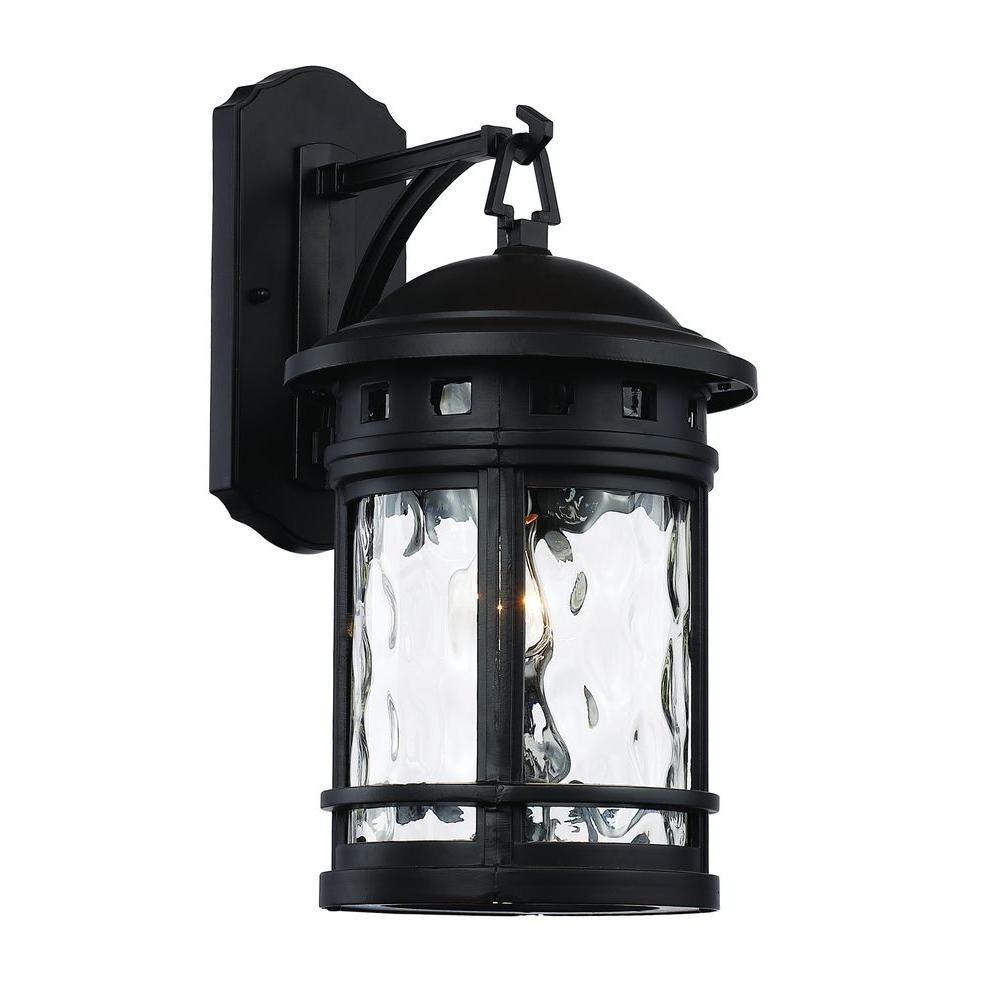 Bel Air Lighting 1 Light Black Outdoor Chimney Stack Wall Lantern Inside Patriot Lighting Outdoor Wall Lights (#2 of 15)