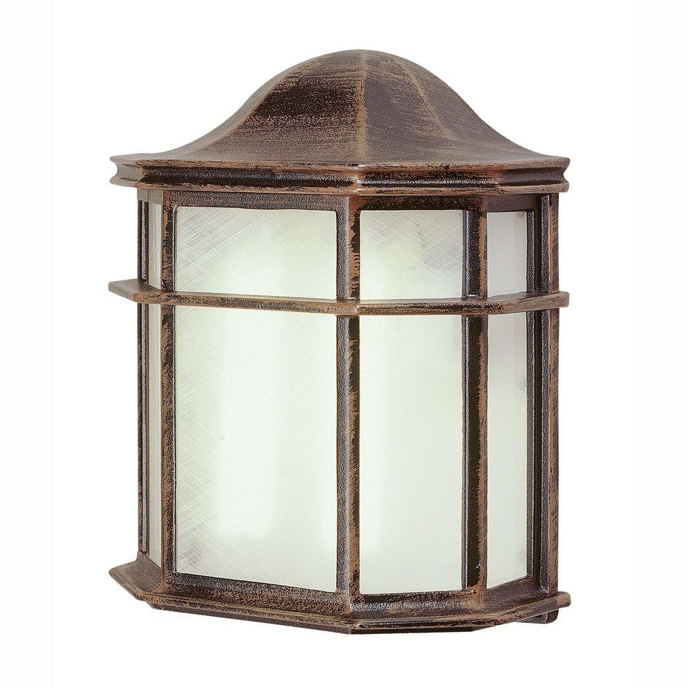 Bel Air Lighting 1 Light Outdoor Rust Patio Wall Lantern With Intended For Big Outdoor Wall Lighting (#3 of 15)