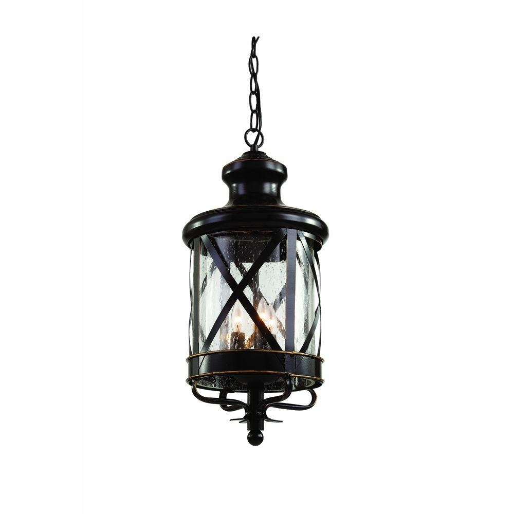 Bel Air Lighting Carriage House 4 Light Outdoor Oiled Rubbed Bronze In Outdoor Hanging Carriage Lights (#4 of 15)