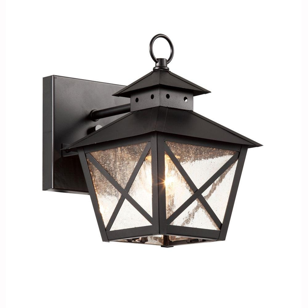 Bel Air Lighting Farmhouse 1 Light Outdoor Black Wall Lantern With Pertaining To Farmhouse Outdoor Wall Lighting (#2 of 15)