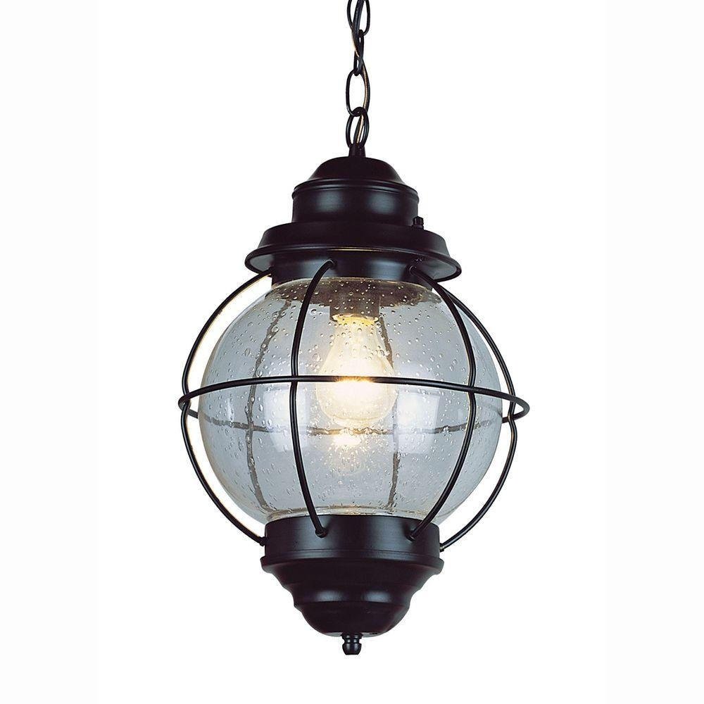 Bel Air Lighting Lighthouse 1 Light Outdoor Hanging Black Lantern Pertaining To Outdoor Hanging Solar Lanterns (#3 of 15)