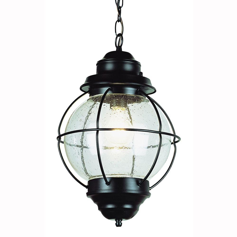 Bel Air Lighting Lighthouse 1 Light Outdoor Hanging Black Lantern With Regard To Outdoor Hanging Globe Lights (View 10 of 15)