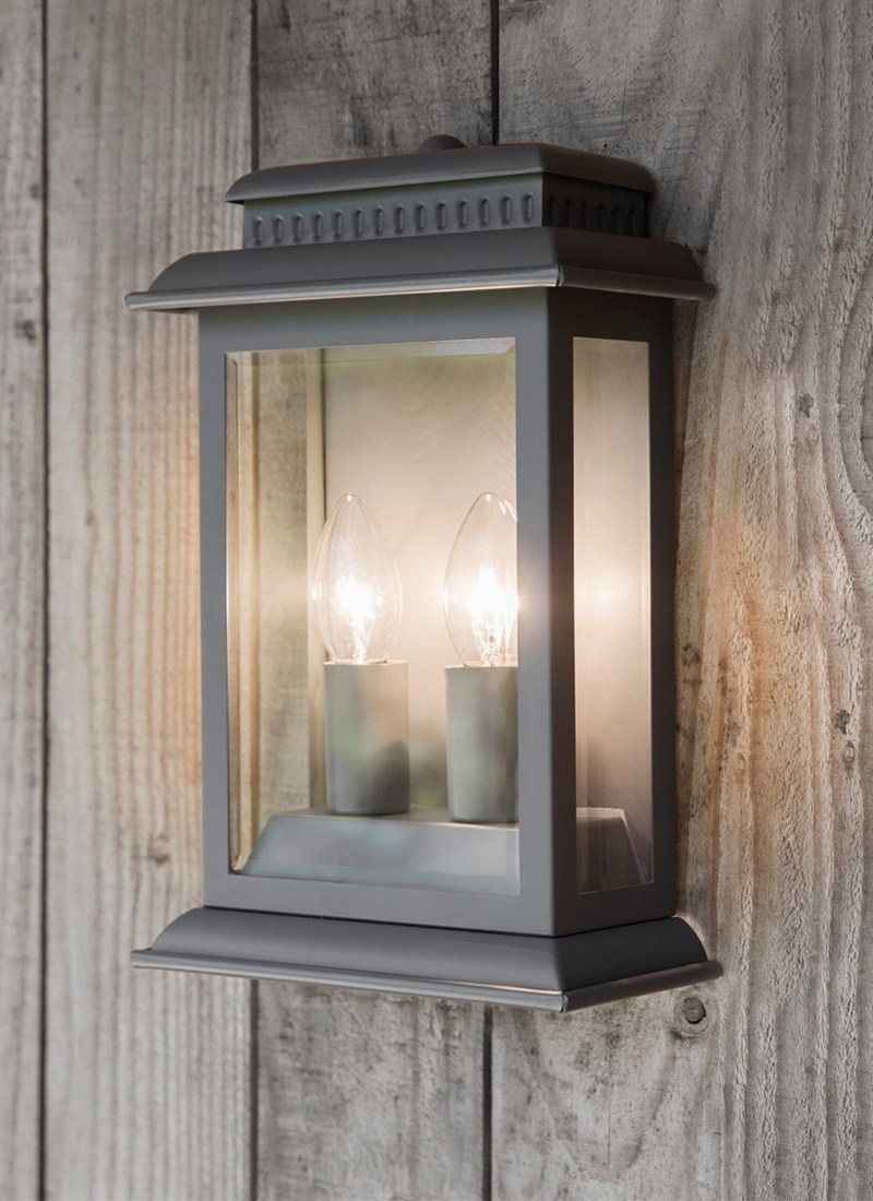 Inspiration about Belvedere Light In Charcoal – Steel | Garden Trading Regarding Grey Outdoor Wall Lights (#14 of 15)