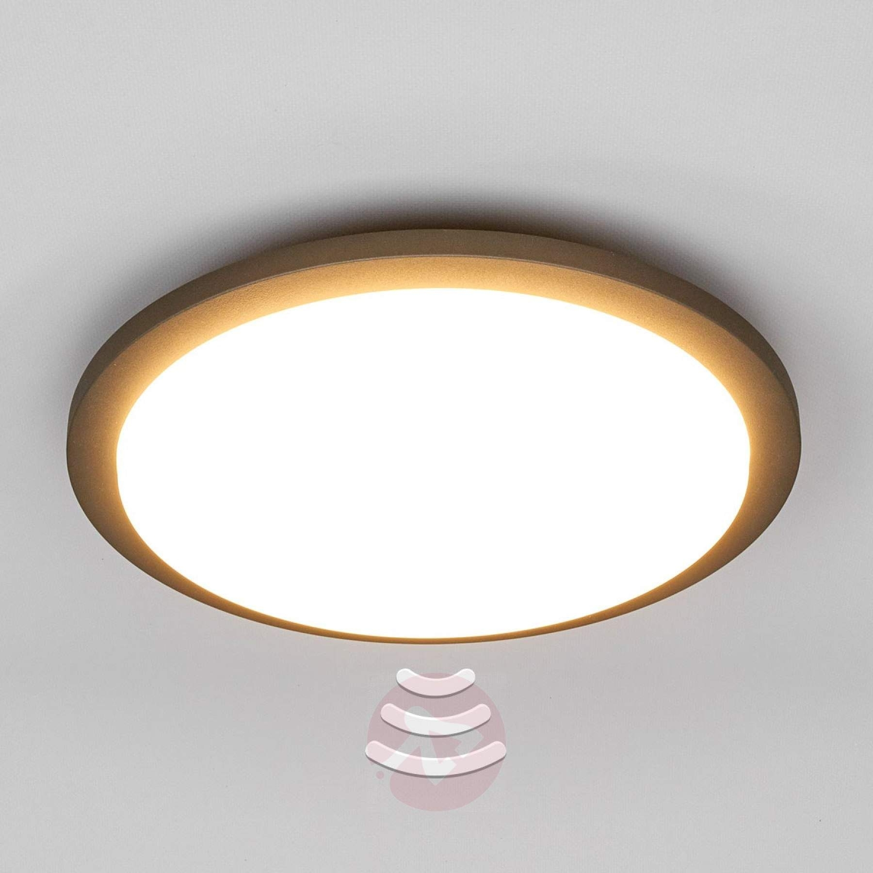 Benton – Led Outdoor Ceiling Light With Sensor | Lights.co (#3 of 15)