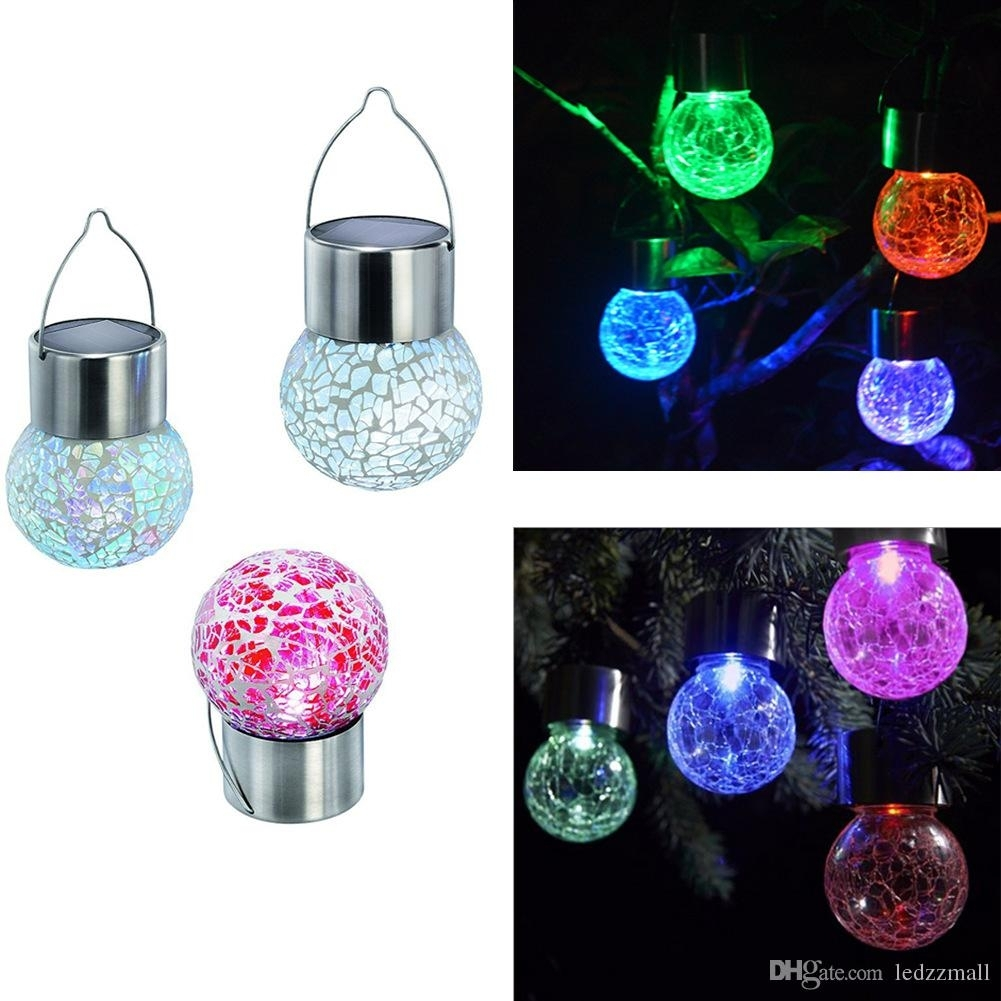 Best Solar Battery Operated Led Ball Light Colour Chaning Led For Outdoor Hanging Lights With Battery (#7 of 15)