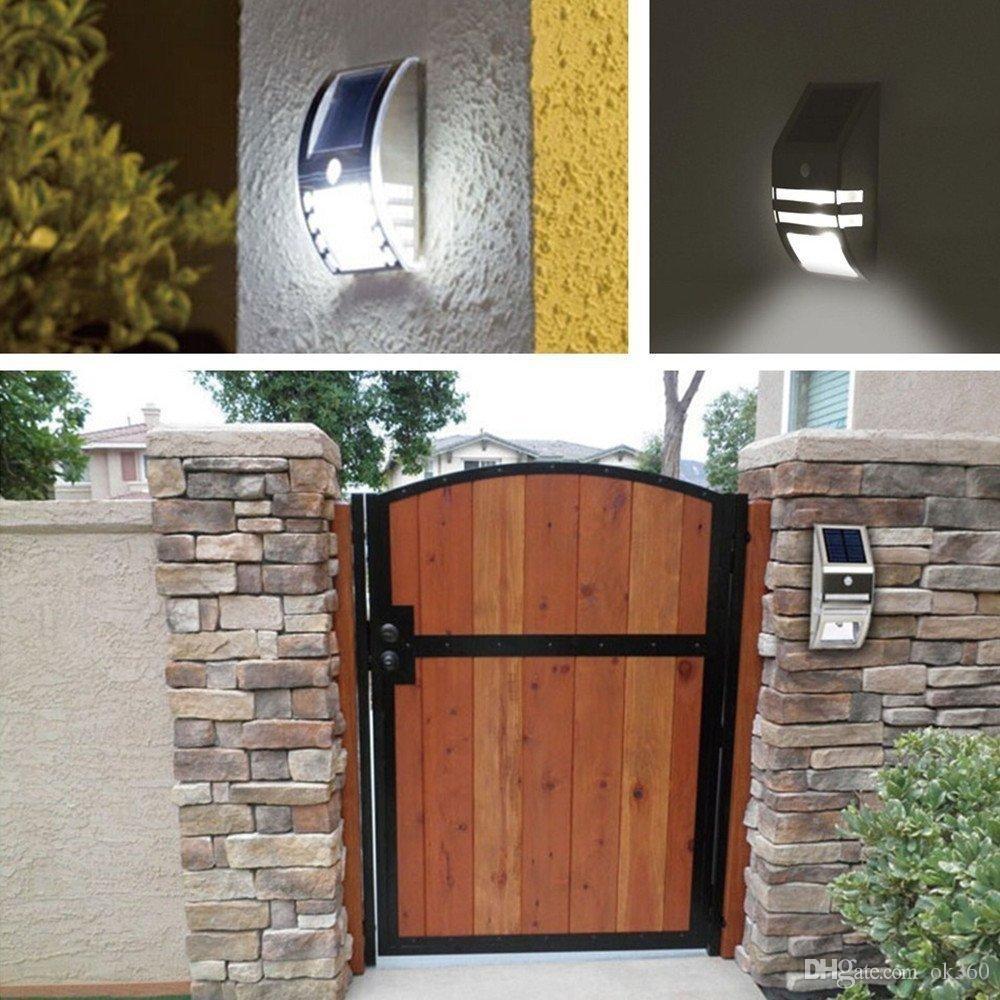 Best Waterproof 2 Led 120Lm Pir Solar Motion Sensor Lamp Garden Yard Within Garden Outdoor Wall Lights (#2 of 15)