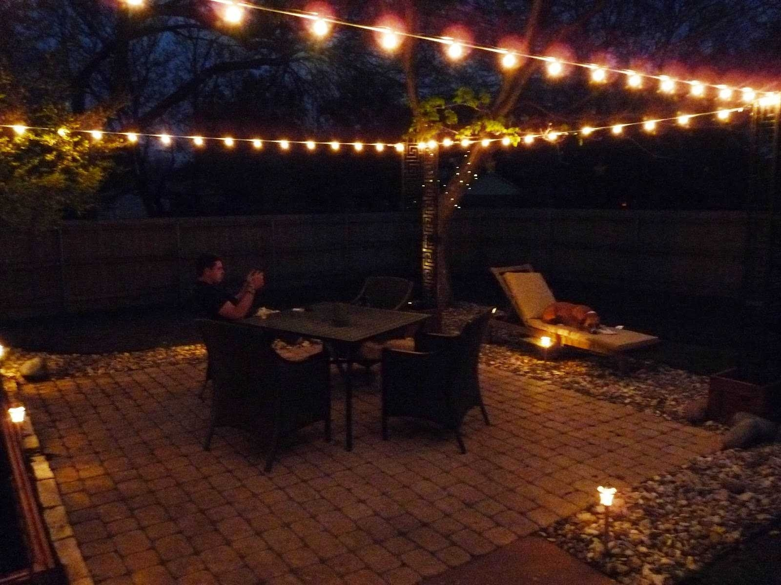 Best Way Hang Outdoor String Lights Ways 2018 Also Outstanding Inside Hanging Outdoor Lights On Stucco (#4 of 15)