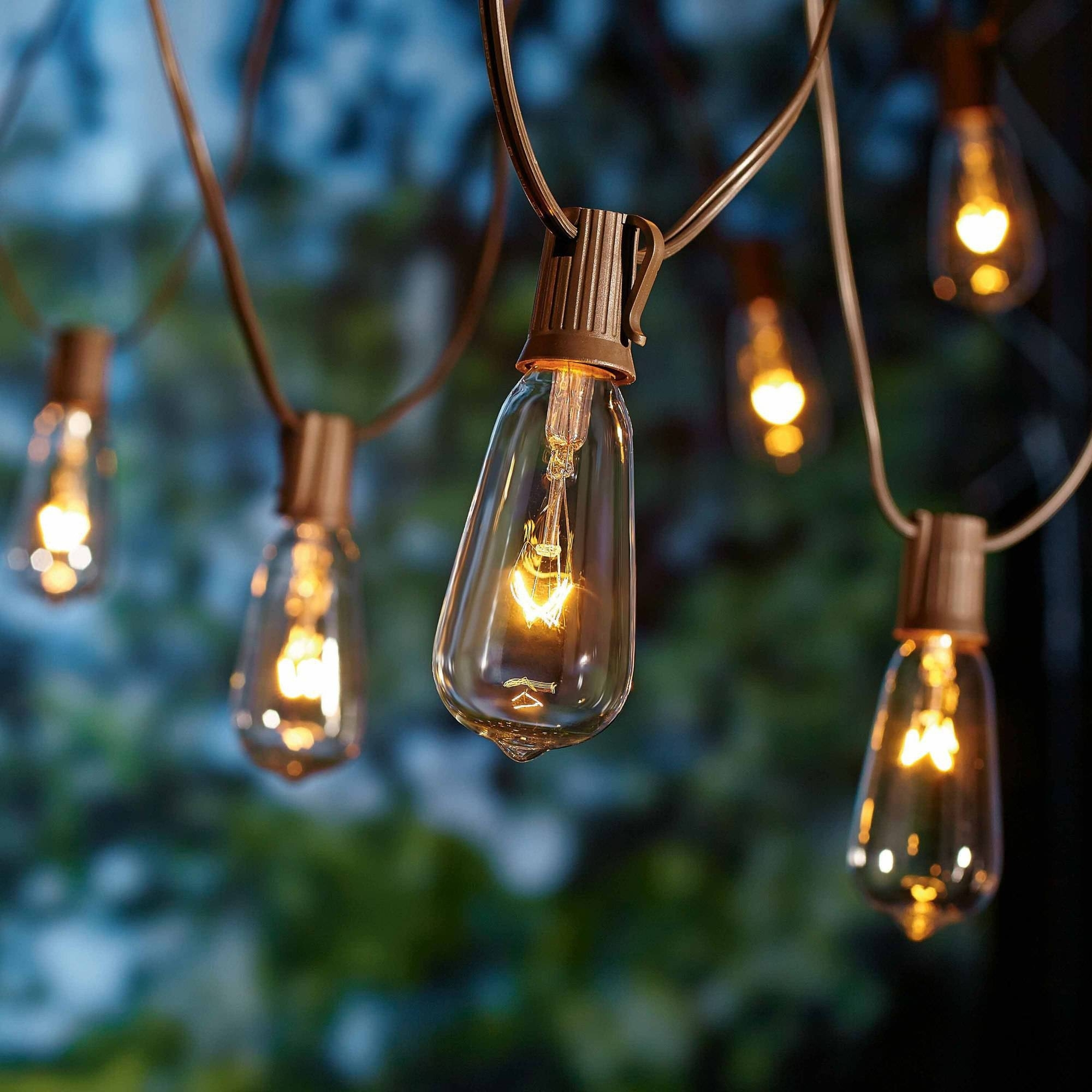 Better Homes And Gardens Outdoor Glass Edison String Lights, 10 Inside Outdoor Plastic Hanging Lights (#3 of 15)