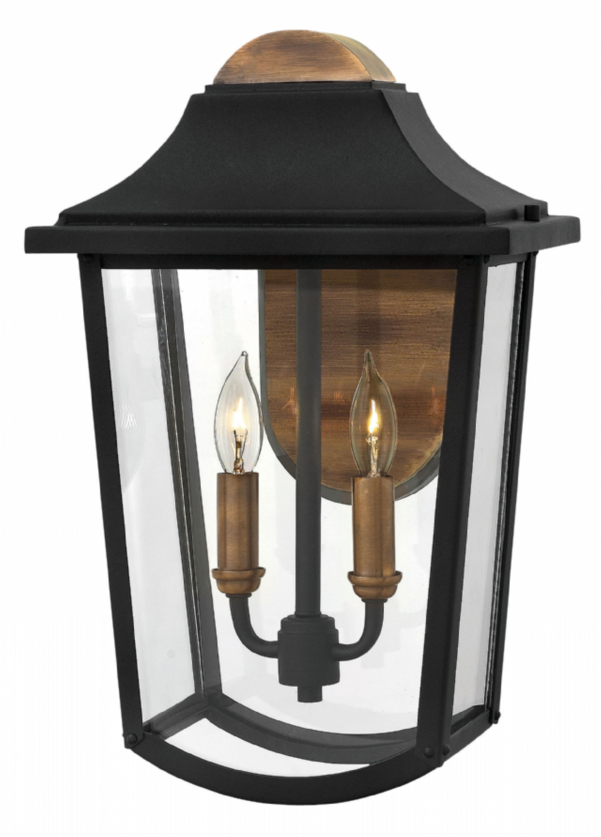 Black Burton > Exterior Wall Mount In Modern Latern Hinkley Lighting (#2 of 15)
