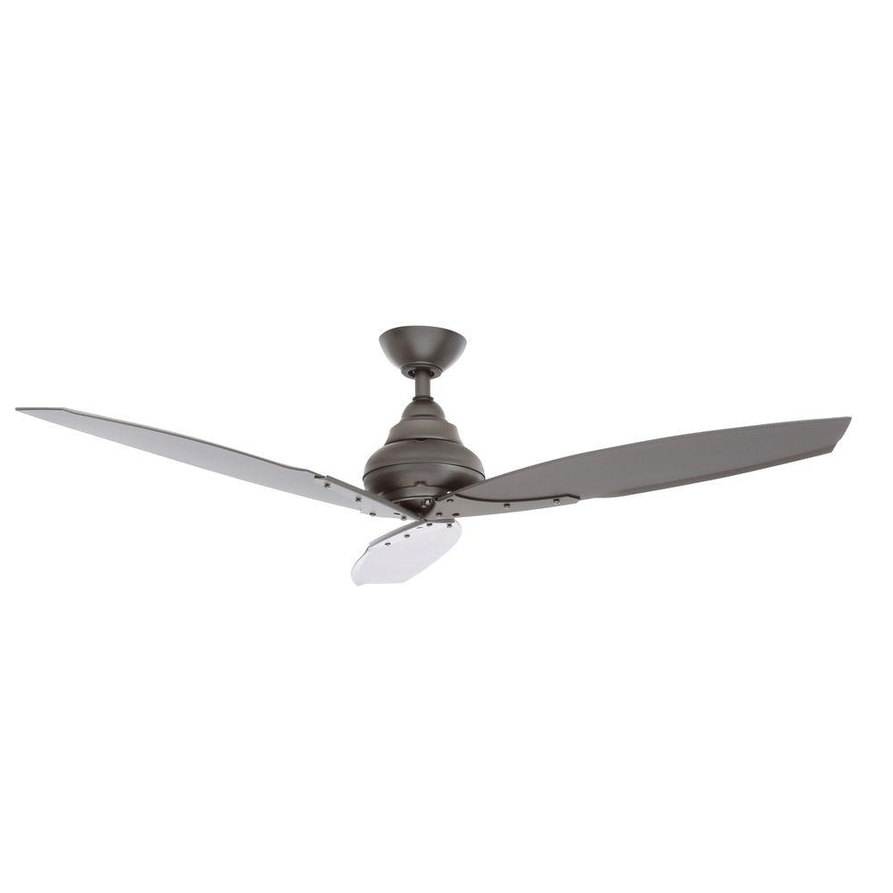 Black – Outdoor – Ceiling Fans – Lighting – The Home Depot Intended For Outdoor Ceiling Fans With Remote Control Lights (#1 of 15)