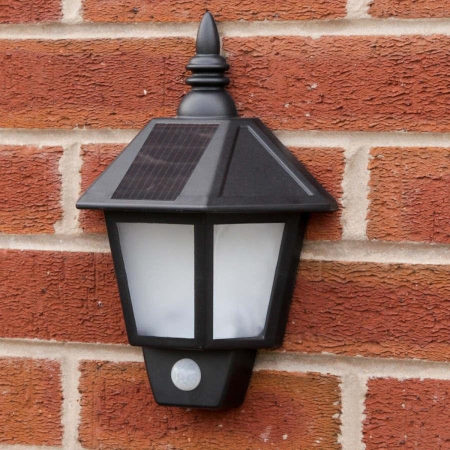 Popular Photo of Pir Solar Outdoor Wall Lights
