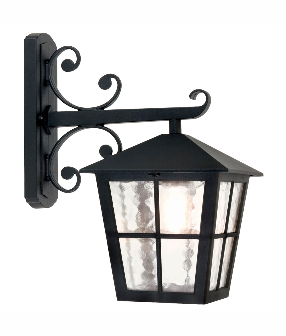 Black Traditional Hanging Carriage Lantern In Outdoor Hanging Carriage Lights (#5 of 15)