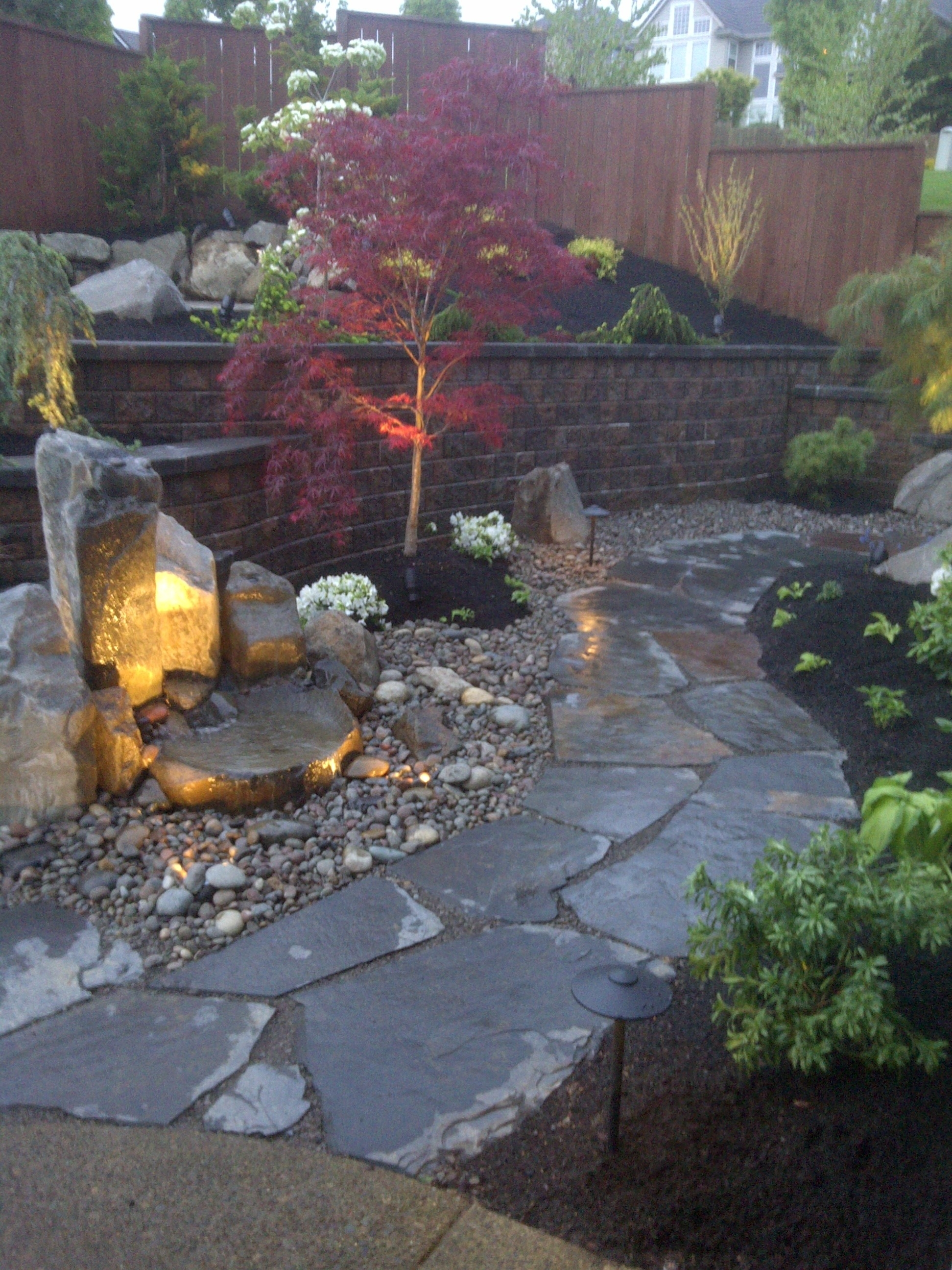 Block Walls – Concrete Retaining Walls In Vancouver Wa With Regard To Outdoor Block Wall Lighting (#1 of 15)