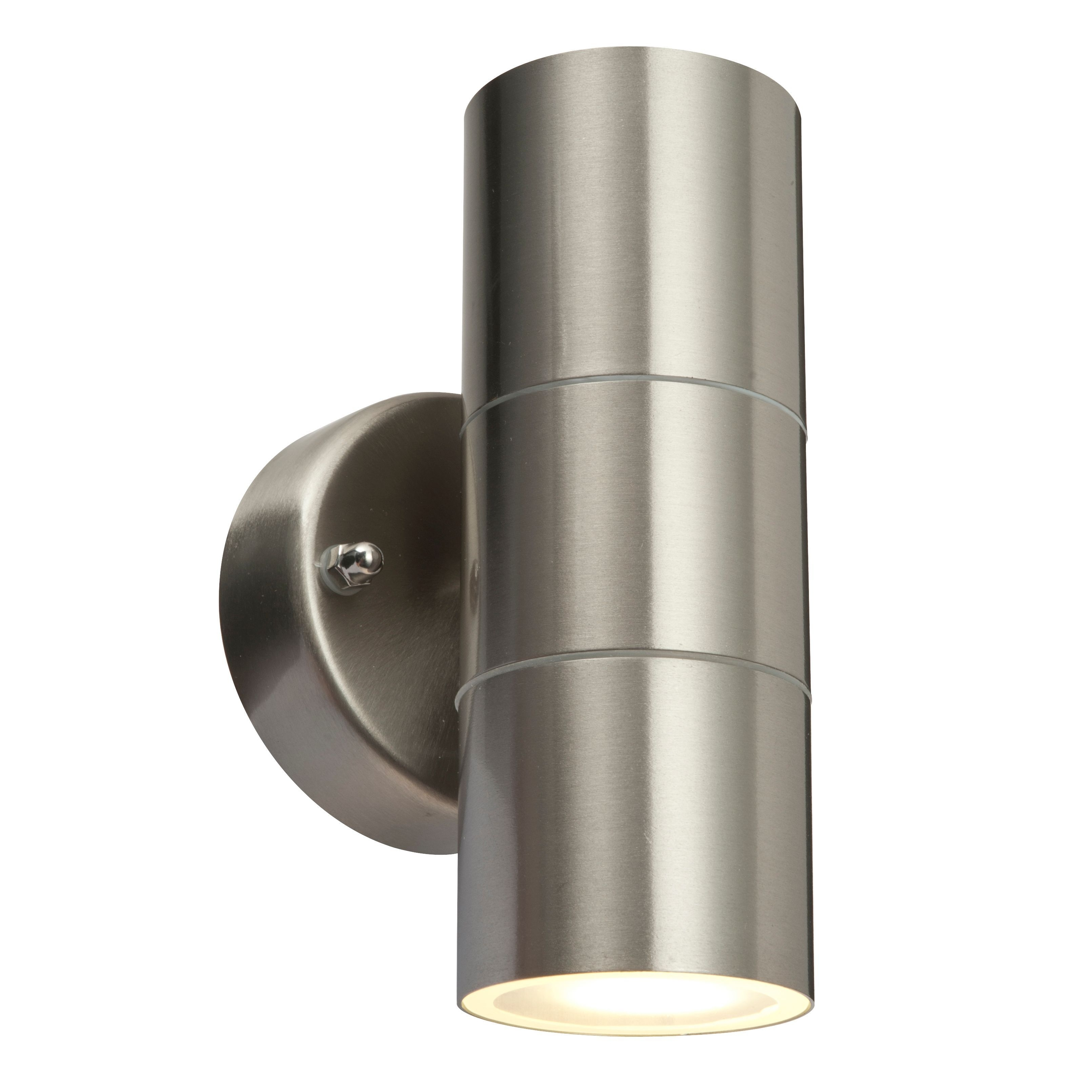 Blooma Sommus Stainless Steel Mains Powered External Up & Down Wall Regarding Outdoor Ceiling Lights At B&q (#5 of 15)