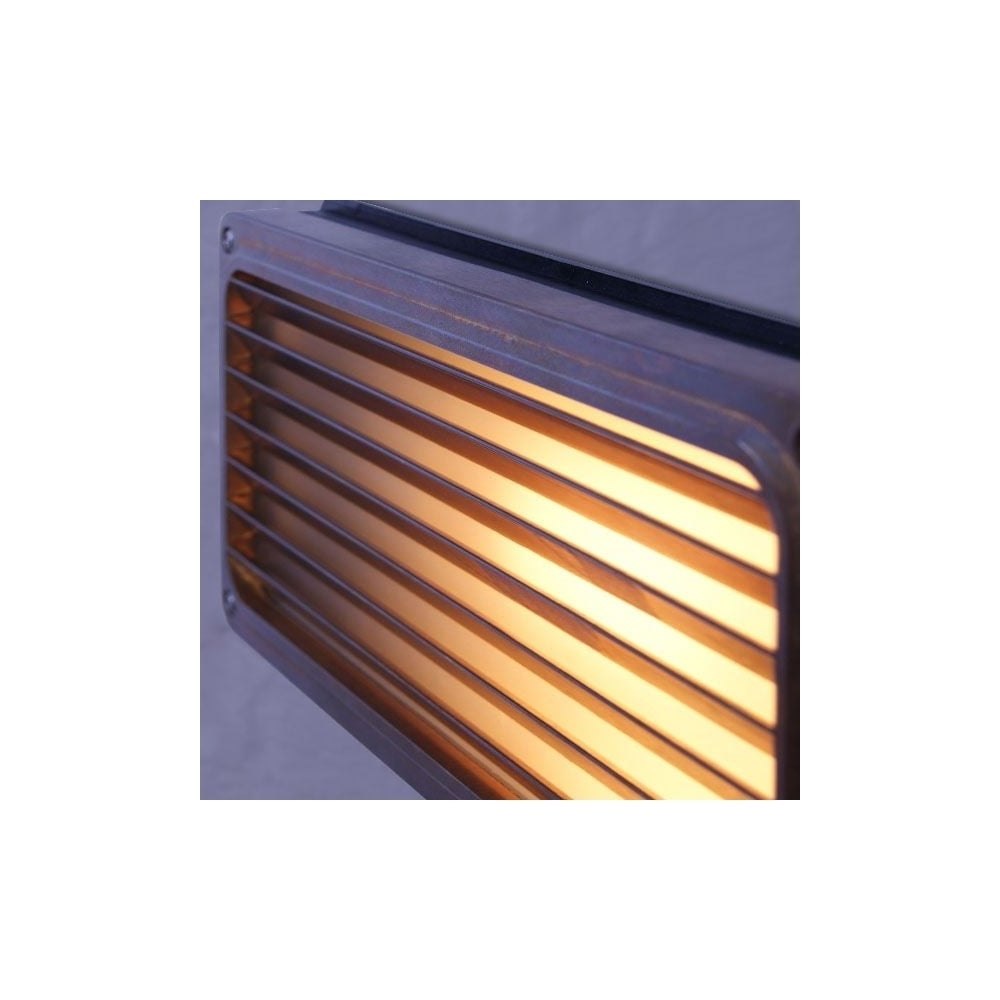Brass Recessed Grill Wall Light Outdoor – Lighting And Lights Uk Inside Recessed Outdoor Wall Lighting (#3 of 15)