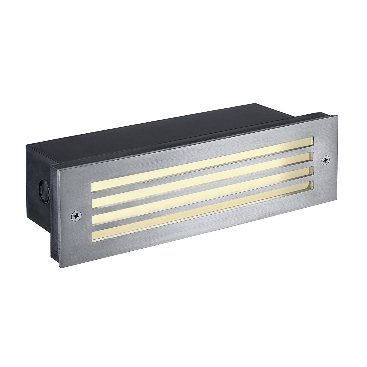 Brick Mesh, Outdoor Recessed Wall Light, Led, 3000K, Ip54, Stainless Pertaining To Recessed Outdoor Wall Lighting (#4 of 15)