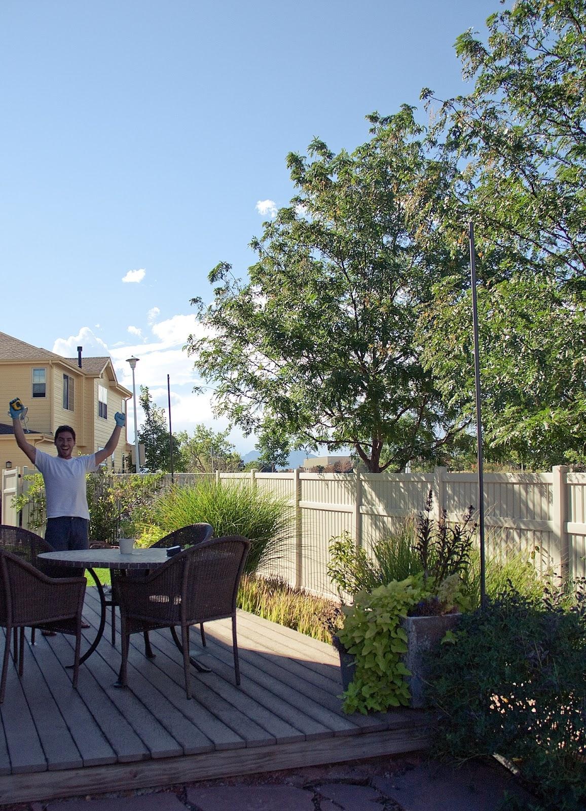 Bright July: {Diy}: Outdoor String Lights Inside Hanging Outdoor Lights In Backyard (#4 of 15)