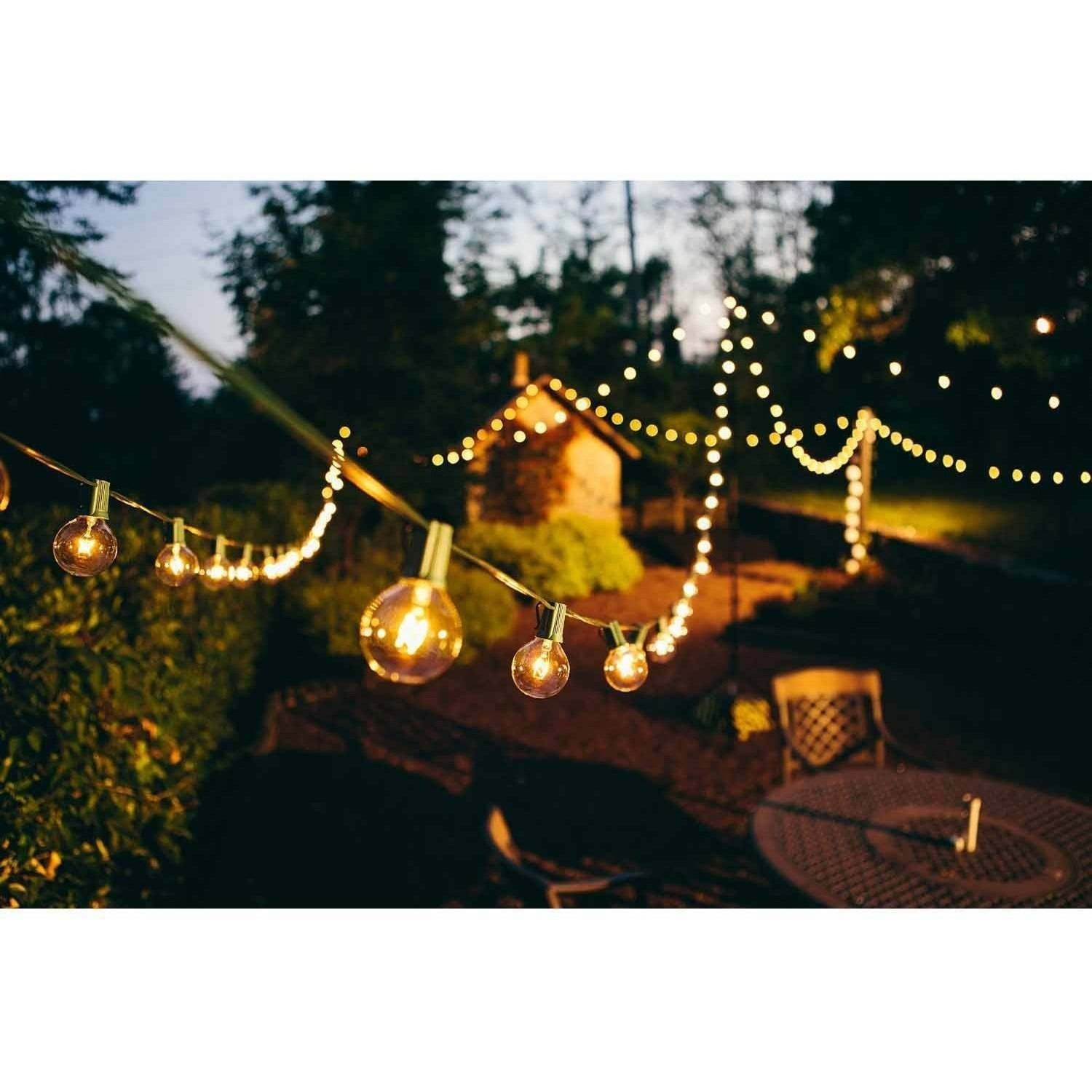 Brightech Ambience Outdoor String Lights With G Clear Globe Plus Inside Garden And Outdoor String Lights (#5 of 15)