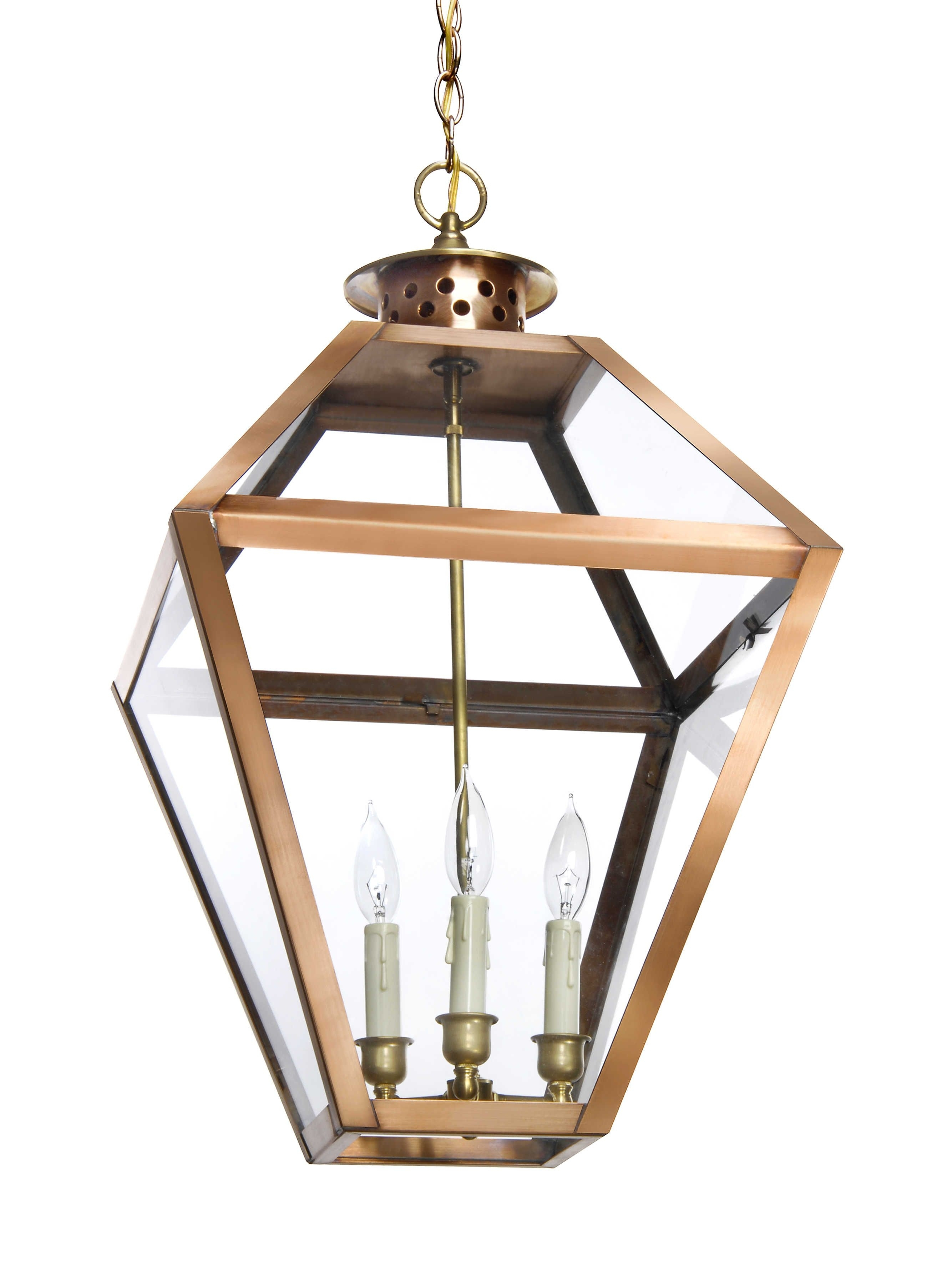 Broad Street Collection Bs 16 Bronze Lantern Gas Hanging Lantern For Electric Outdoor Hanging Lanterns (#1 of 15)