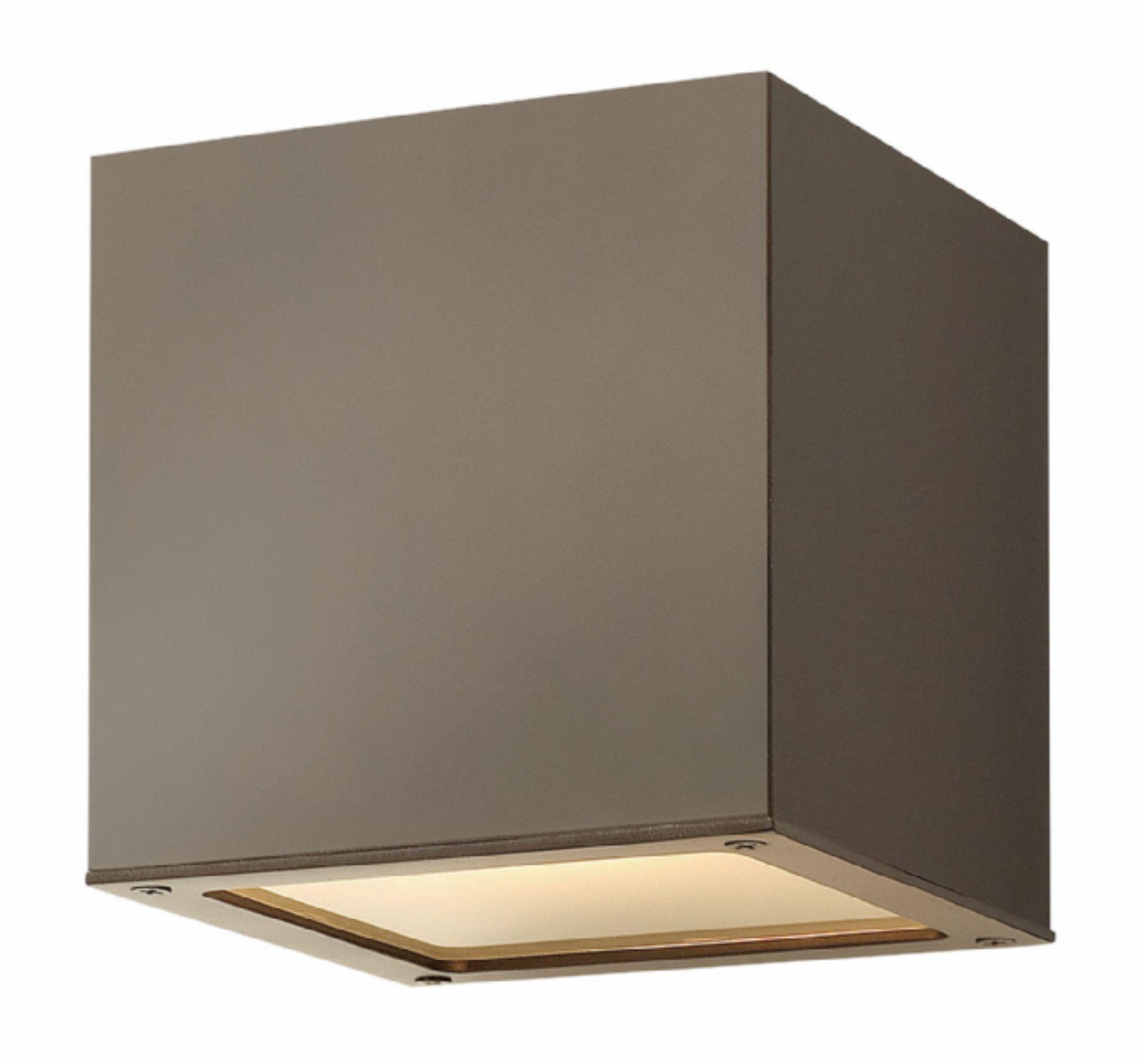 Bronze Kube > Exterior Wall Mount For Modern Outdoor Hinkley Lighting (#2 of 15)