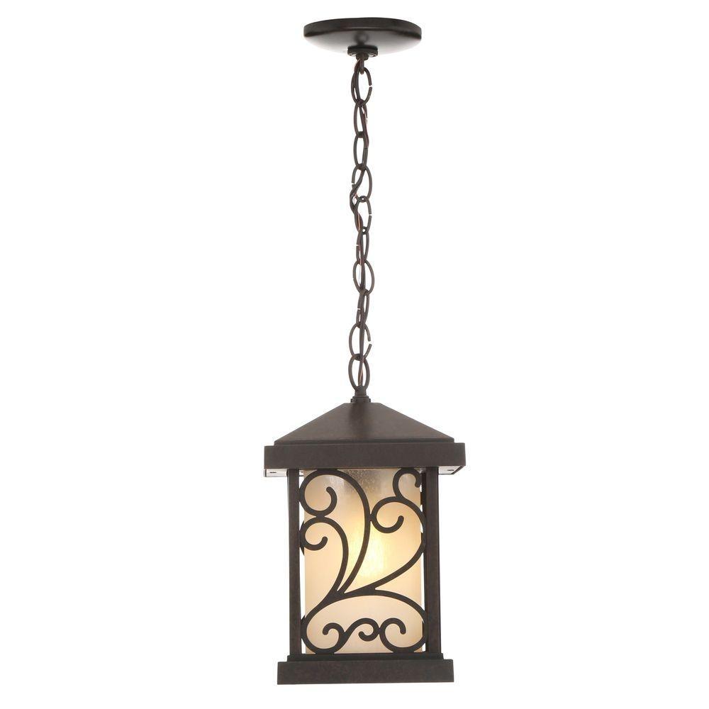 Bronze – Outdoor Hanging Lights – Outdoor Ceiling Lighting – The Within Outdoor Hanging Lights At Home Depot (View 10 of 15)