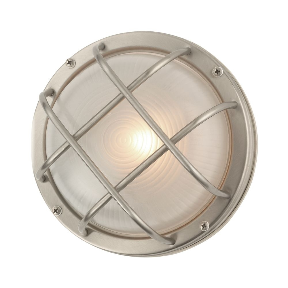 Bulkhead Marine Outdoor Ceiling / Wall Light – 8 Inches Wide | 39456 With Outdoor Ceiling Nautical Lights (#4 of 15)