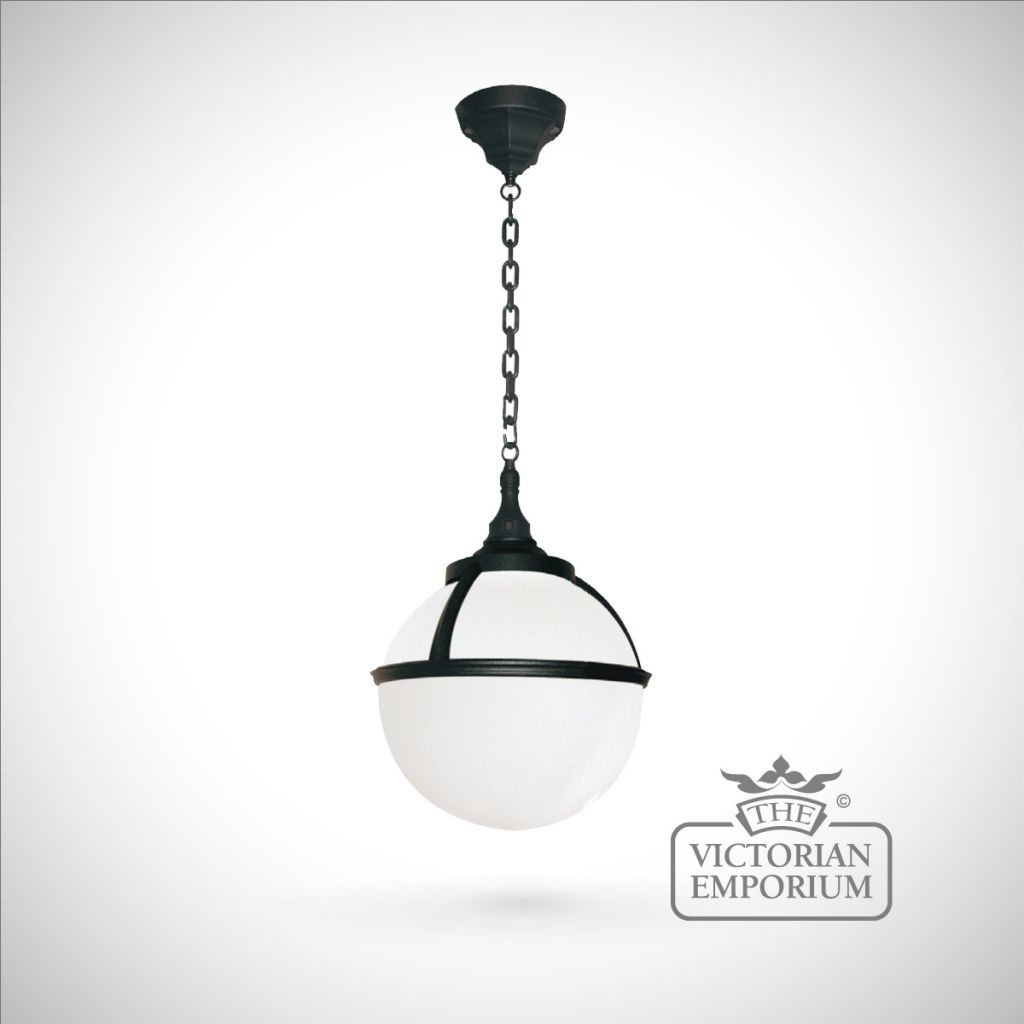 Buy Globe Chain Lantern, Exterior Ceiling Lights – Spherical Outdoor For Outdoor Hanging Globe Lights (View 7 of 15)