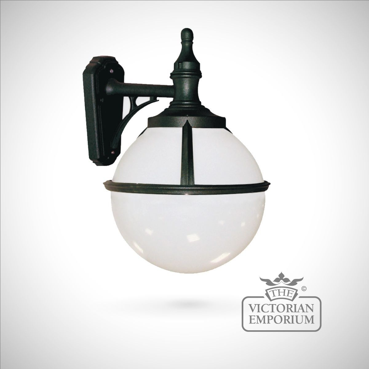 Buy Globe Wall Lantern, Outdoor Wall Lights – Spherical Black Wall Within Outside Wall Globe Lights (#3 of 15)