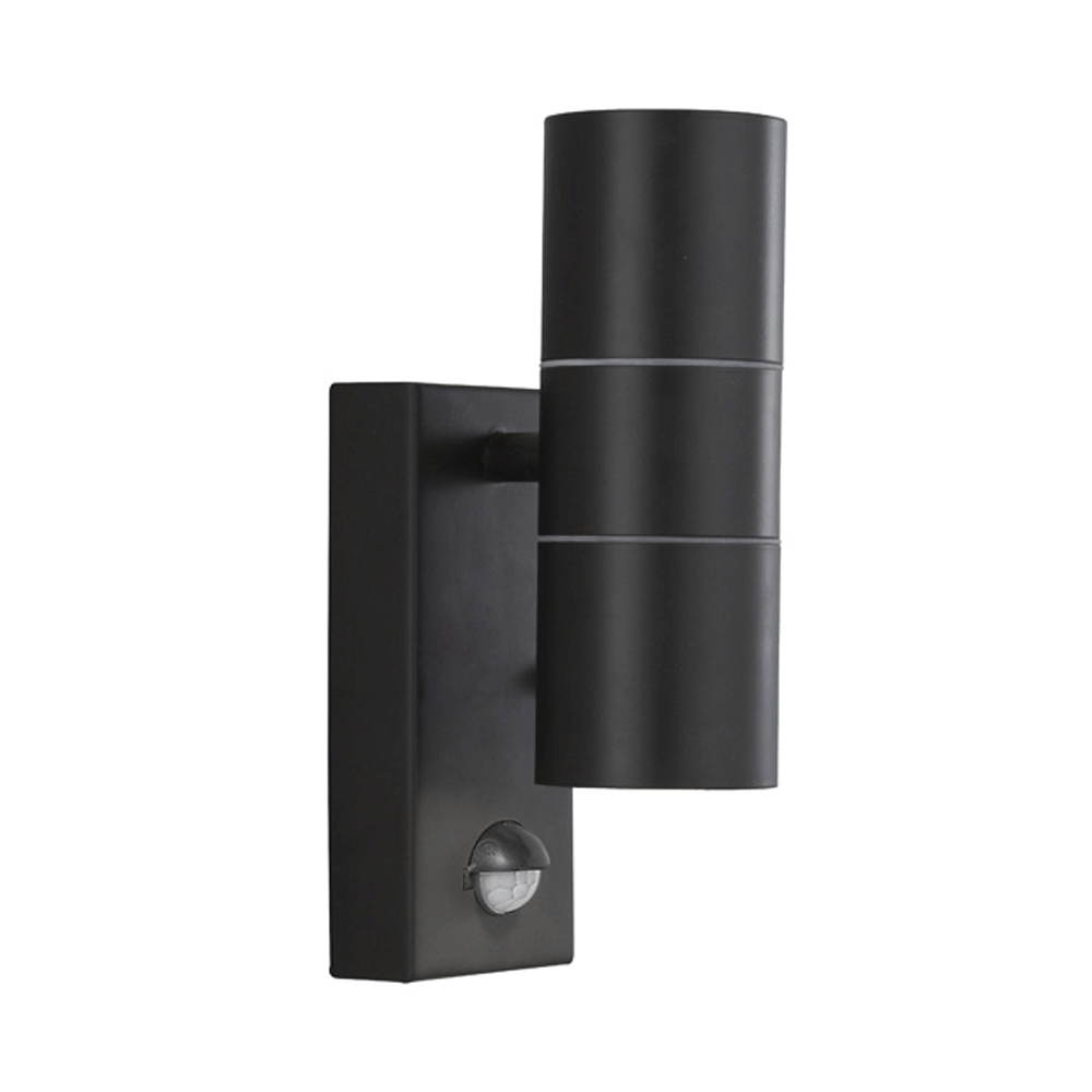 Buy Searchlight 7008 2Bk Outdoor Wall Light With Motion Sensor In Black With Regard To Led Outdoor Wall Lights Lanea With Motion Sensor (#1 of 15)