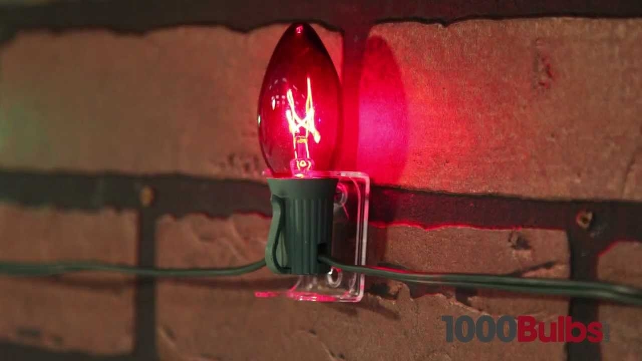 C7 Or C9 Combo Clips For Christmas Lights – Clear – Youtube Inside Hanging Outdoor Lights On Stucco (#5 of 15)