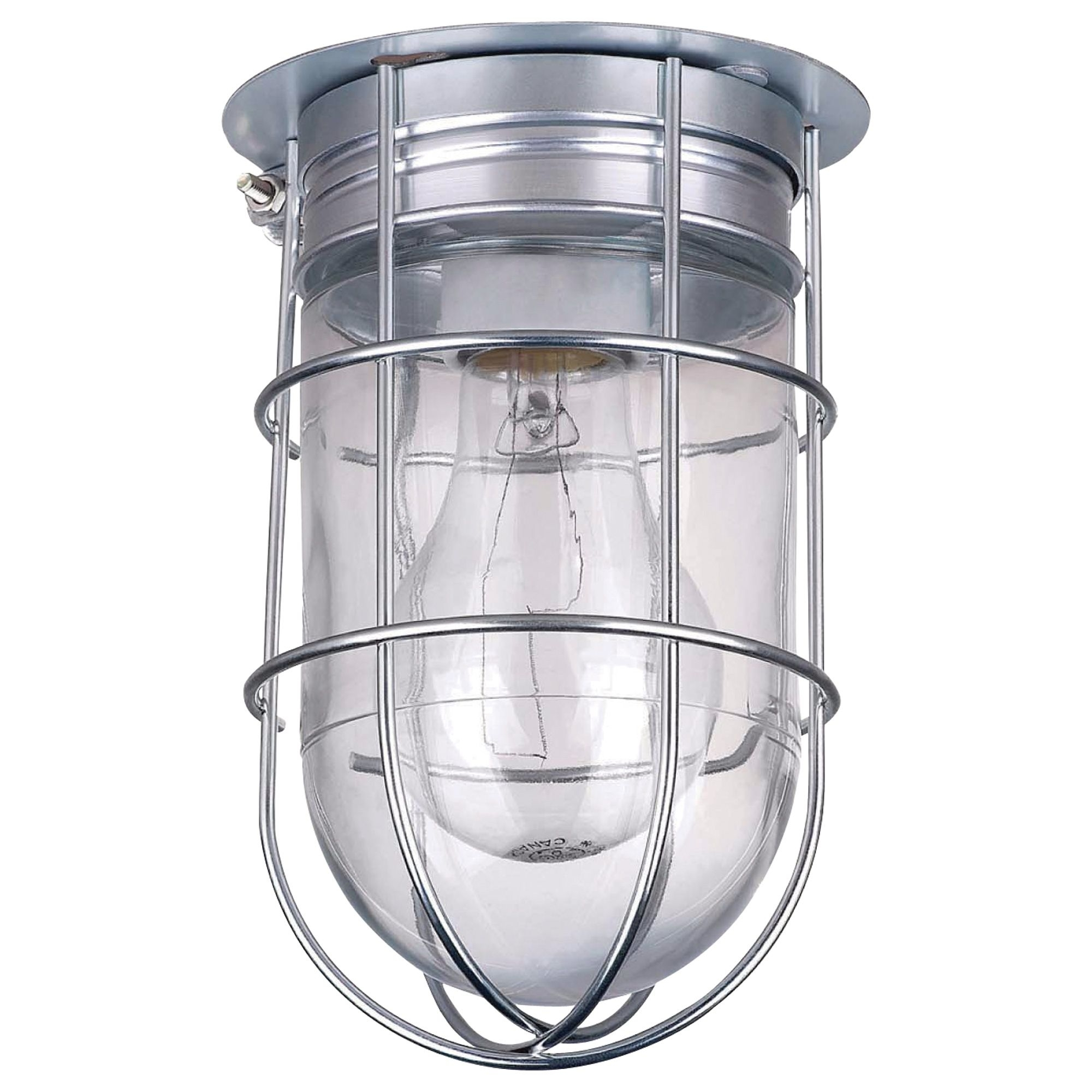 Canarm Ceiling/wall Barn Light With Cage — 120V, 100 Watts, Model With Outdoor Garage Ceiling Lights (#4 of 15)
