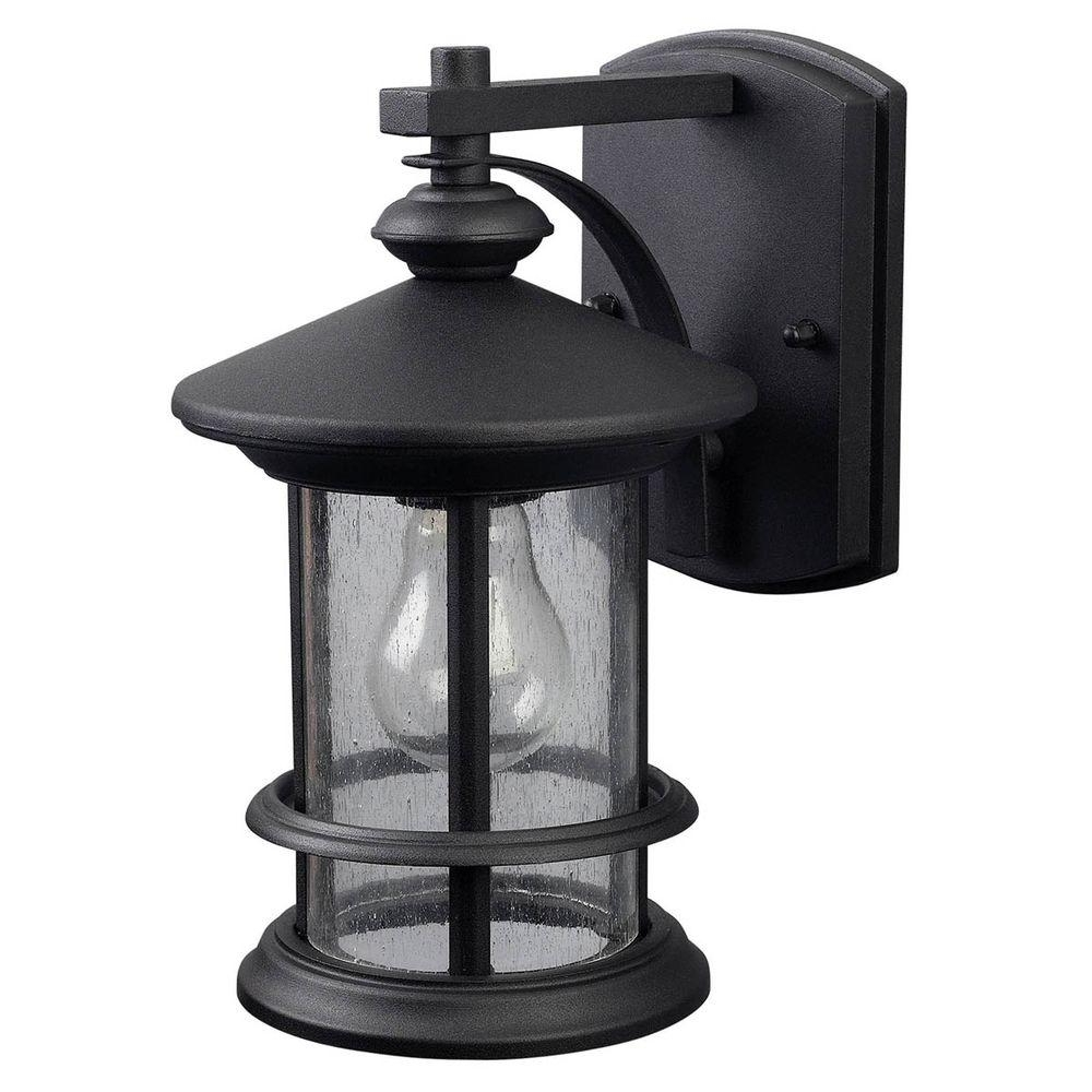 Canarm Ryder 1 Light Black Outdoor Wall Lantern With Seeded Glass Throughout Patriot Lighting Outdoor Wall Lights (#4 of 15)