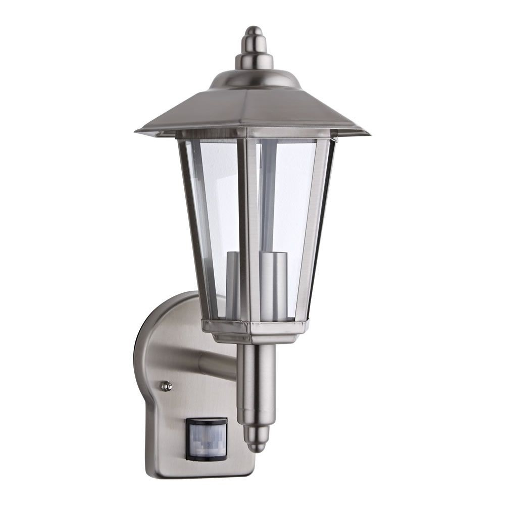 Cannes Stainless Steel Wall Lantern With Pir Pertaining To Outdoor Wall Lights With Pir (View 3 of 15)