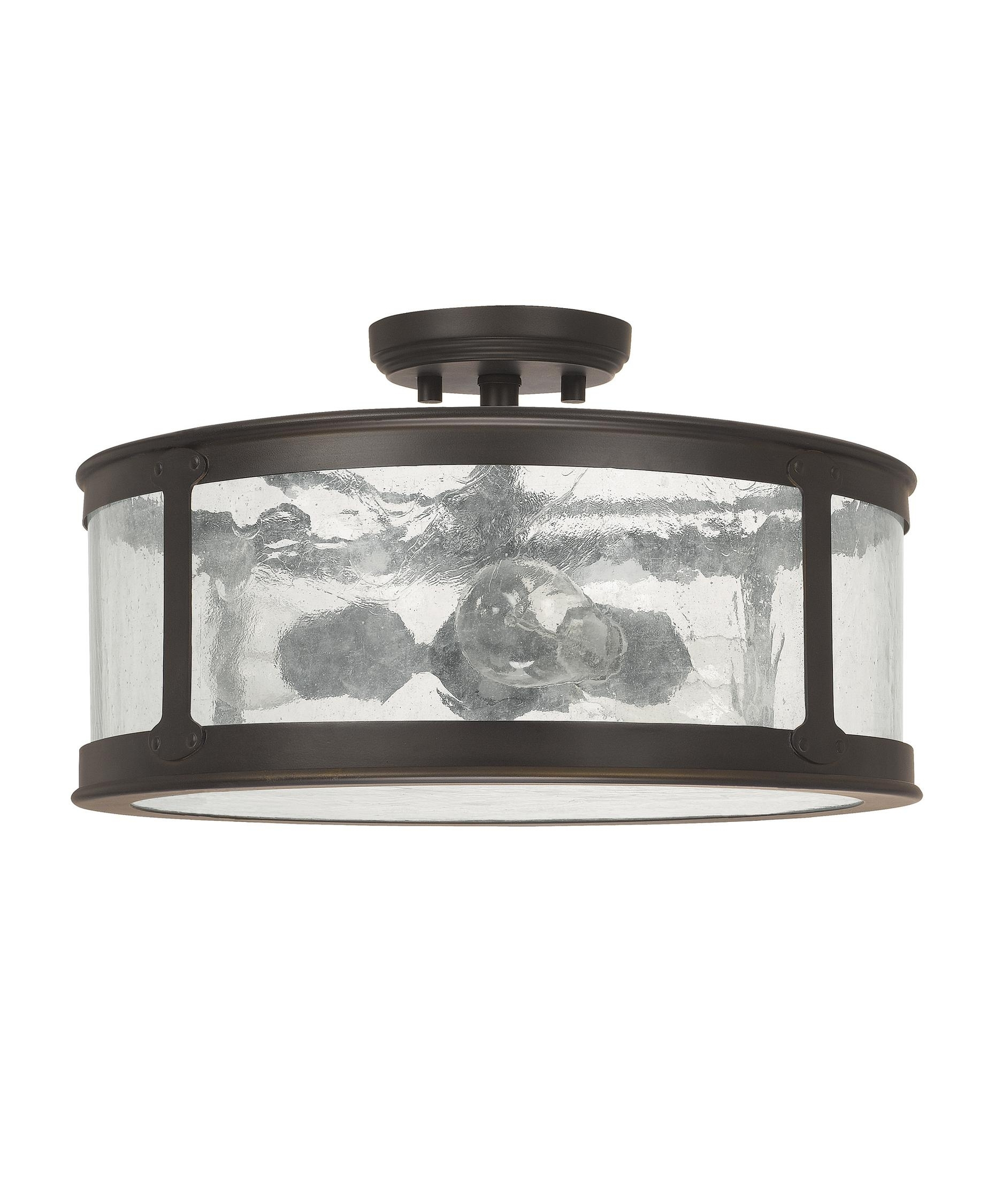 Capital Lighting 9567 Dylan 16 Inch Wide 3 Light Outdoor Flush Mount Intended For Outdoor Close To Ceiling Lights (#5 of 15)