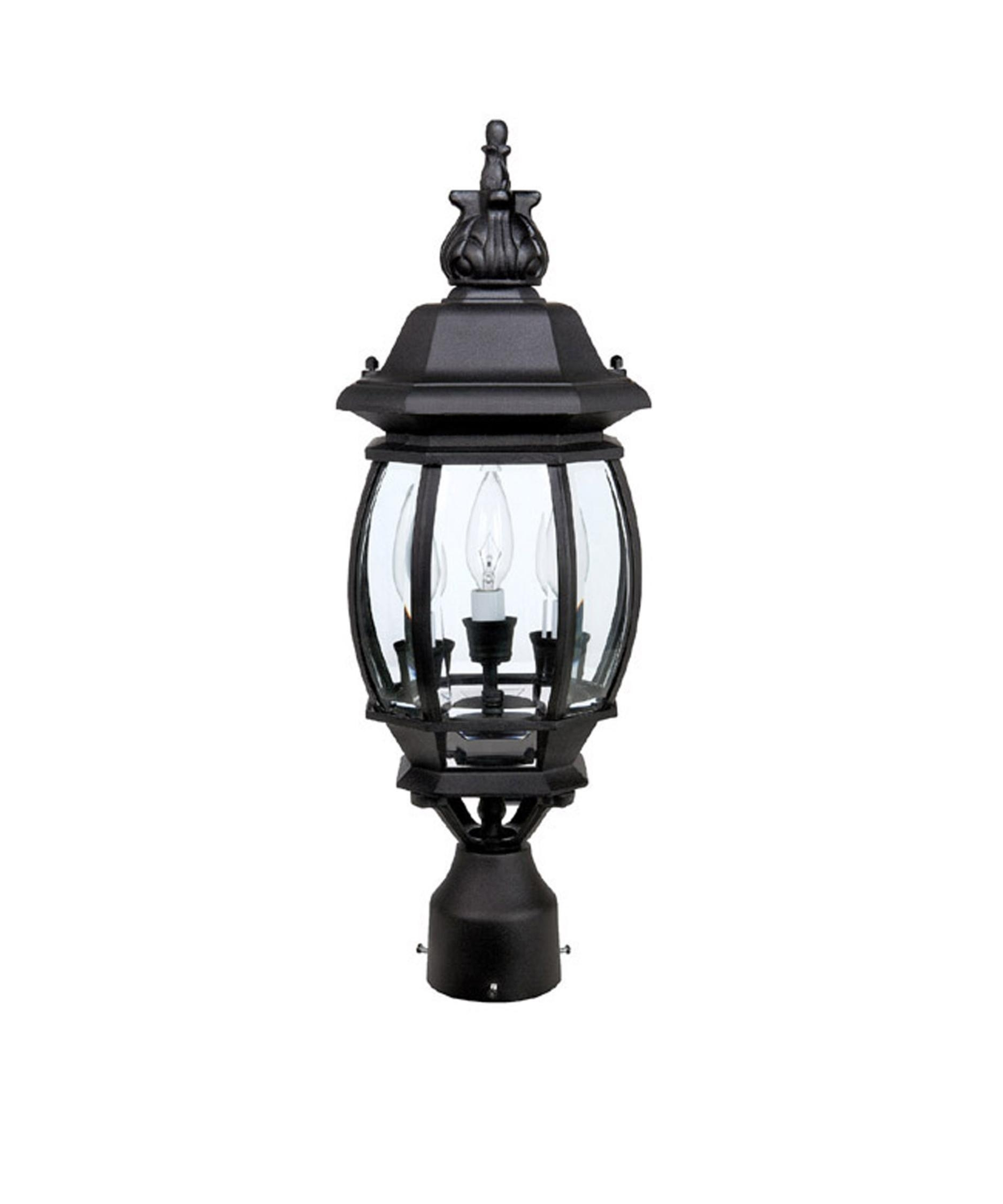 Capital Lighting 9865 French Country 8 Inch Wide 3 Light Outdoor Throughout Outdoor Hanging Post Lights (#3 of 15)