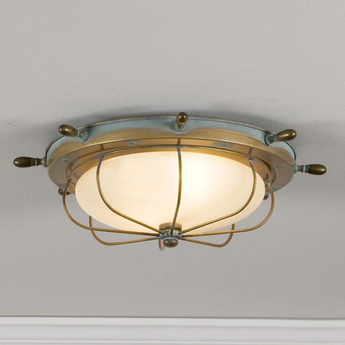 Captain's Ceiling Light | Ceiling Lights, Ceilings And Lights In Brass Outdoor Ceiling Lights (#6 of 15)