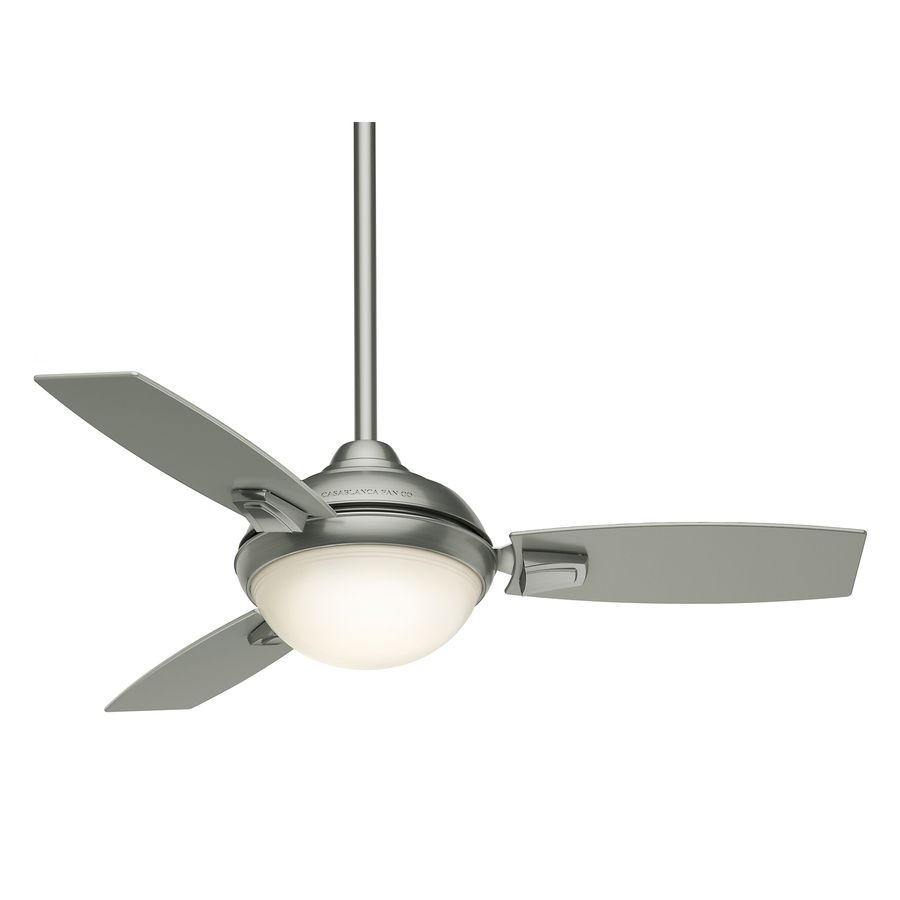 Casablanca Verse Led 44 In Satin Nickel Downrod Or Close Mount Inside Outdoor Ceiling Fans With Led Lights (#1 of 15)