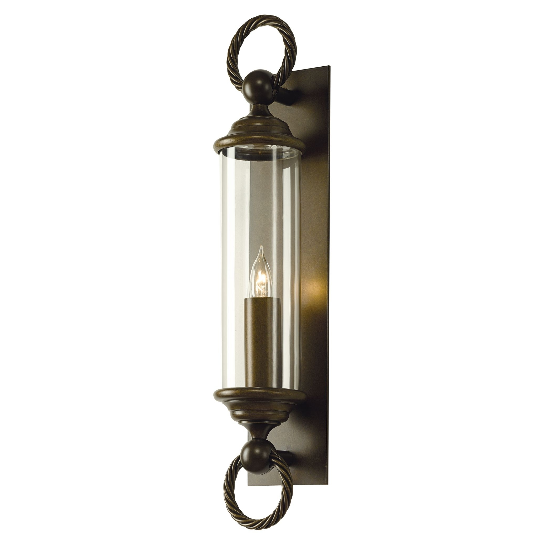 Cavo Large Outdoor Wall Sconce – Hubbardton Forge Within Large Outdoor Wall Light Fixtures (#5 of 15)