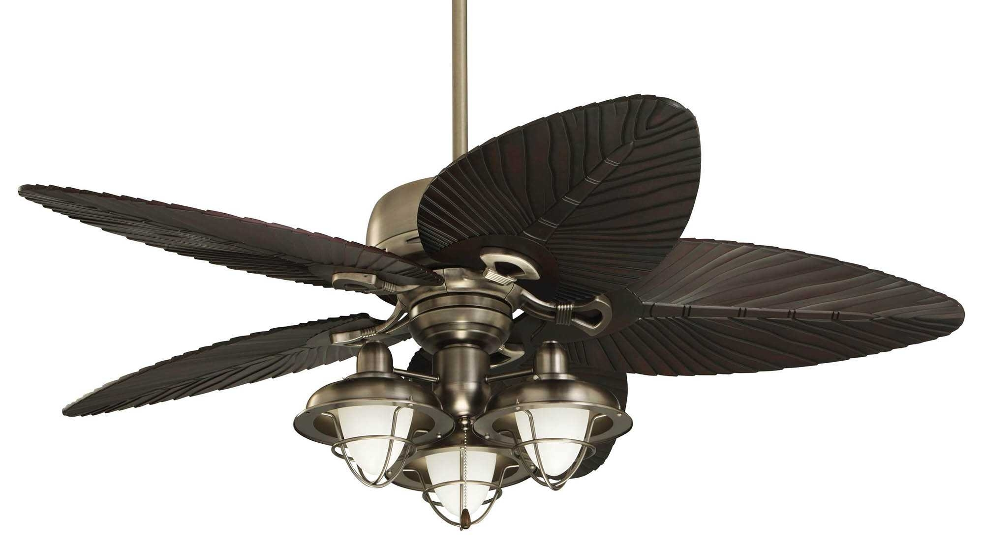 Ceiling Fan ~ Tropical Outdoor Ceiling Fans Picture Ideas With Light In Outdoor Ceiling Fans With Tropical Lights (#6 of 15)