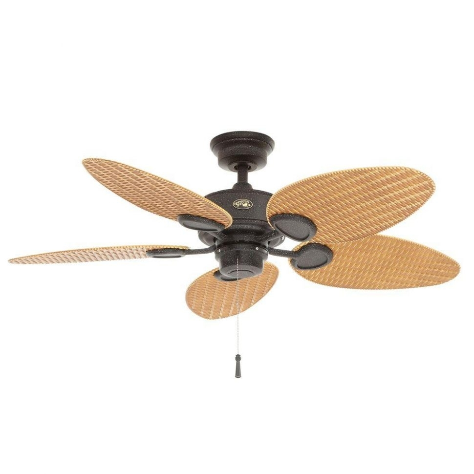 Ceiling Fans : Door Outdoor Ceiling Fans With Light Hampton Bay Intended For Outdoor Ceiling Fans With Copper Lights (#5 of 15)