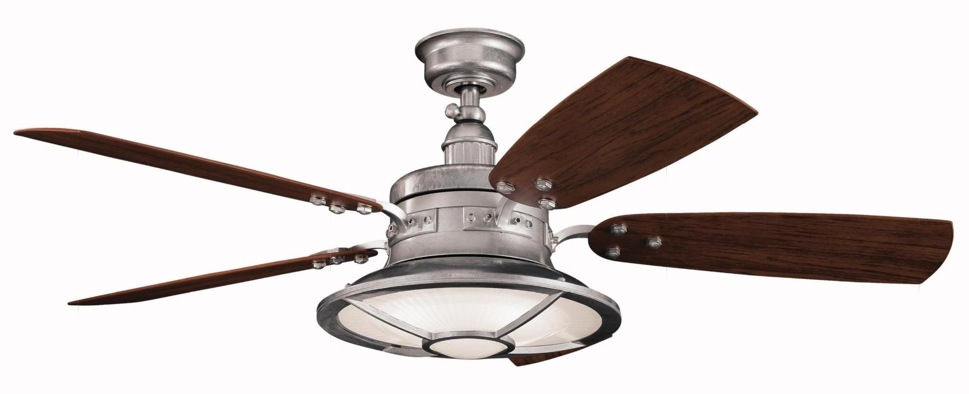 Ceiling Fans : Hunter Outdoor Ceiling Fans With Lights Wet Rated Inside Outdoor Ceiling Fans With Damp Rated Lights (#2 of 15)