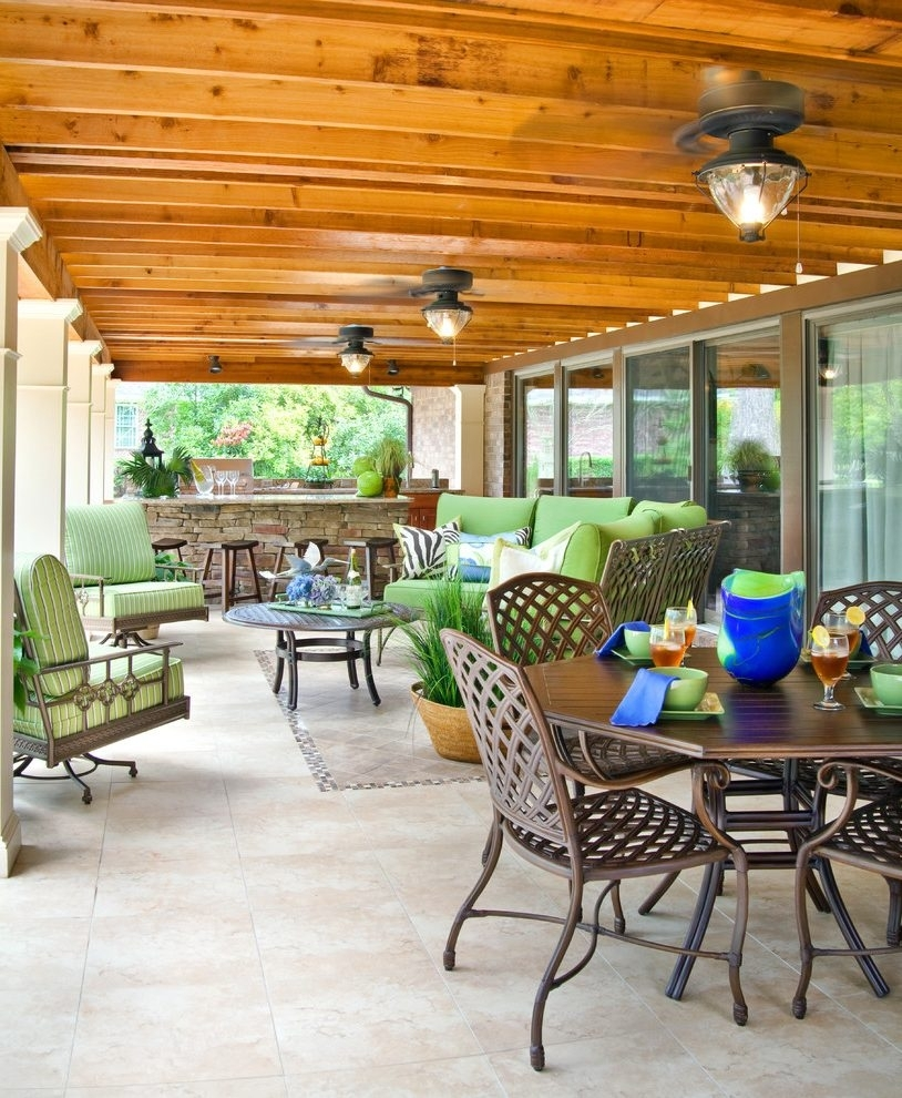 Ceiling Fans : Terrific Contemporary Outdoor Living Room Kitchen Intended For Outdoor Ceiling Lights For Patio (#2 of 15)