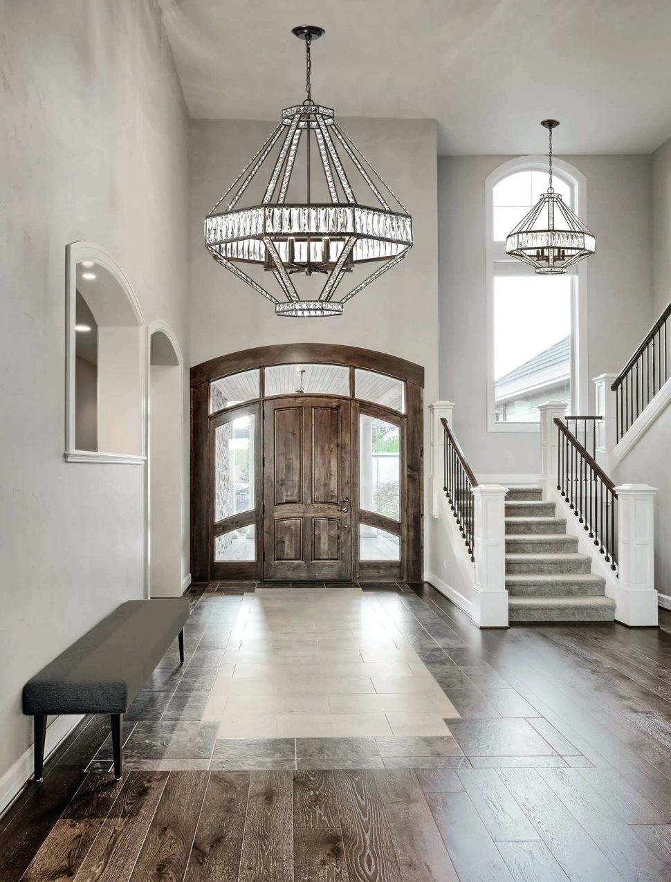 Ceiling Light : Hallway Lamp Shade Ideas Large Entryway Chandelier For Outdoor Entrance Ceiling Lights (#2 of 15)