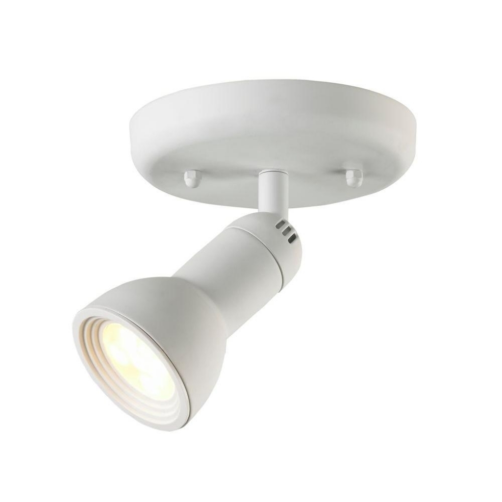 Ceiling Light Hampton Bay 1 Light Multi Directional Led White Semi For Outdoor Directional Ceiling Lights (#4 of 15)