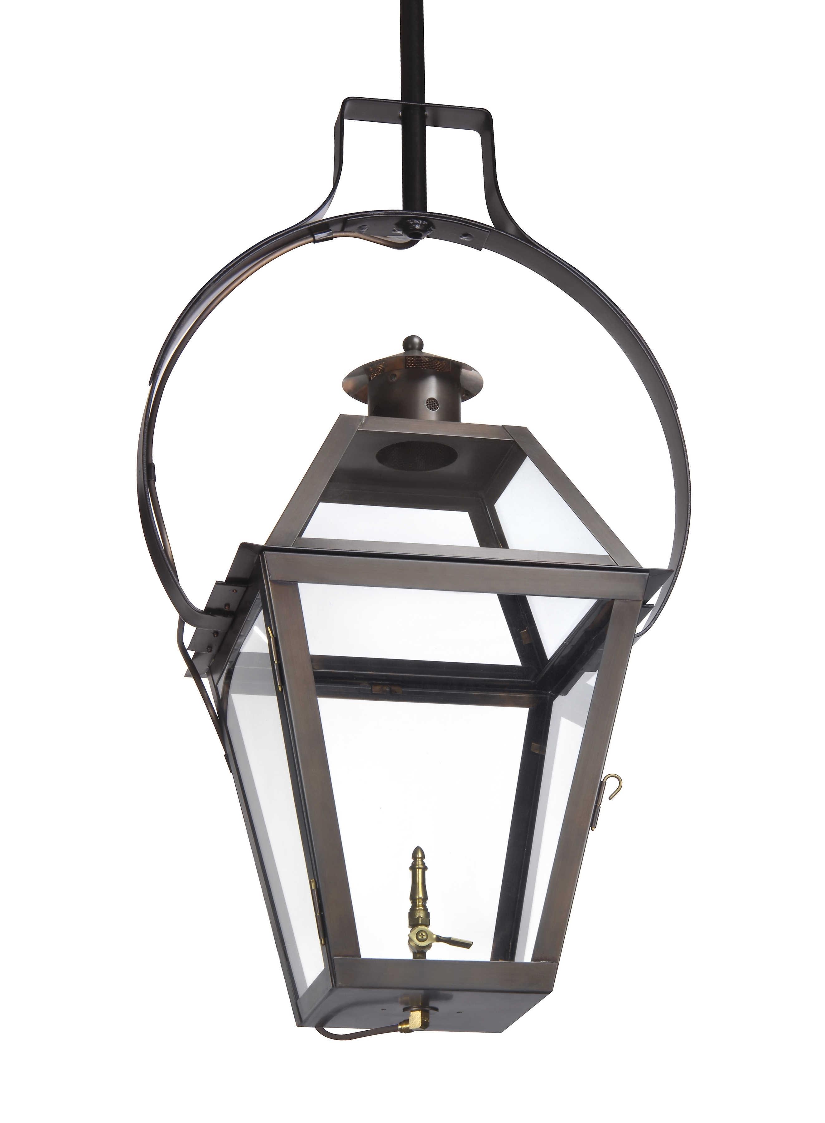 Charleston Collection | Ch 23 Hanging Yoke Light– Lantern & Scroll For Outdoor Hanging Gas Lanterns (#4 of 15)