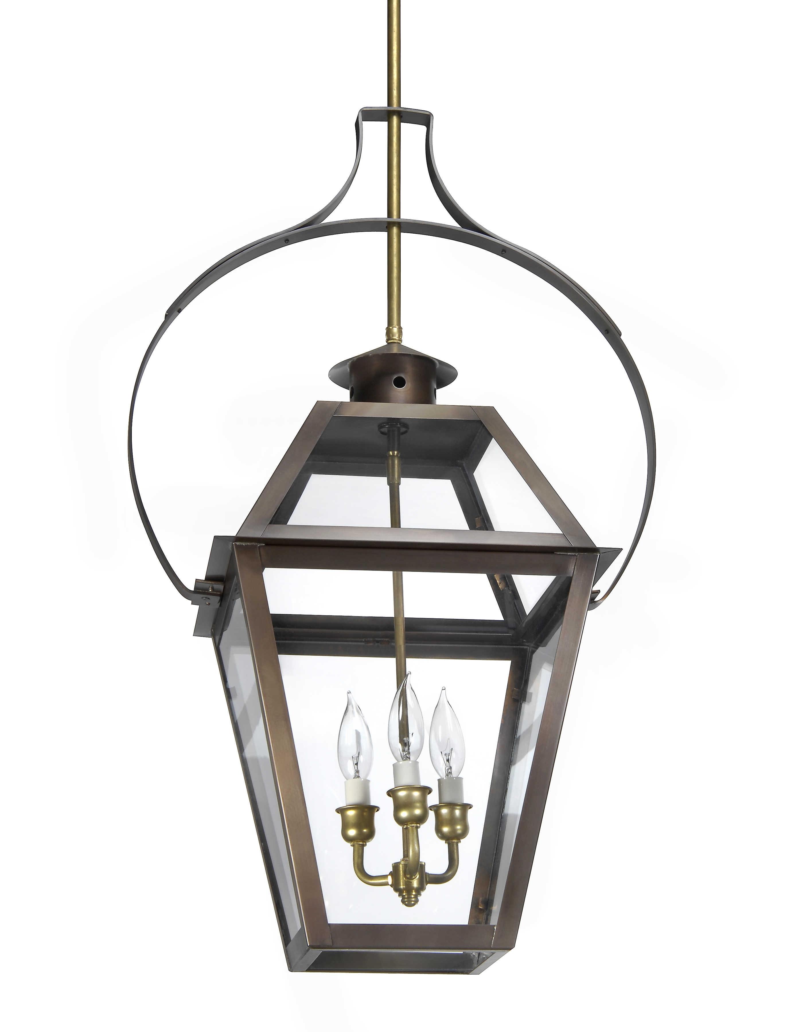 Charleston Collection   Ch 23 Hanging Yoke Light– Lantern & Scroll Regarding Electric Outdoor Hanging Lanterns (View 3 of 15)