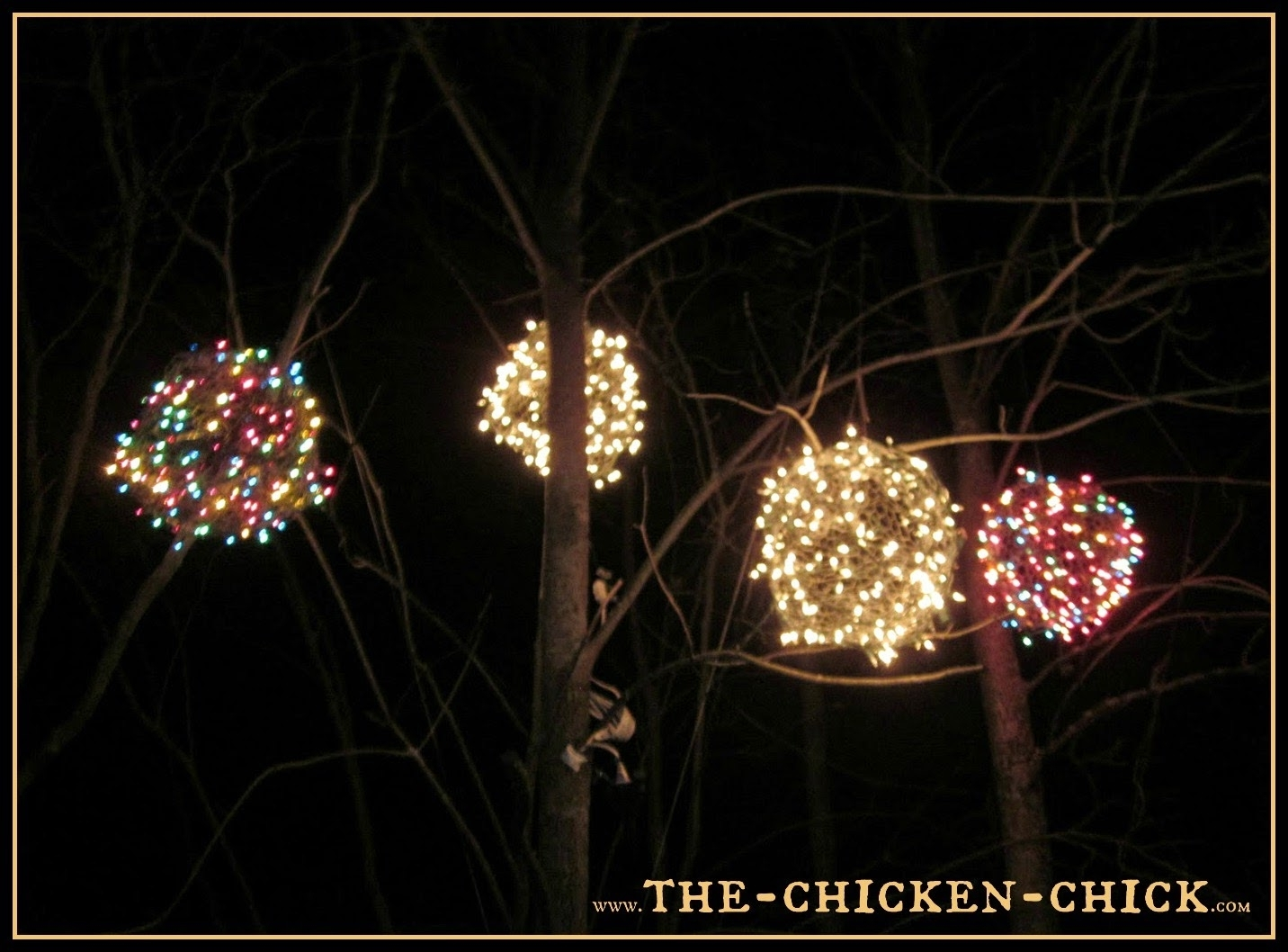15 Best Collection Of Outdoor Hanging Christmas Light Balls